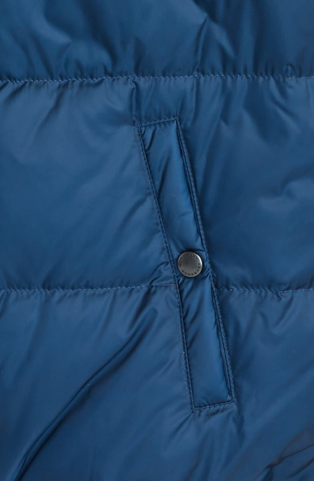 'Carlton' Quilted Down Vest,                             Alternate thumbnail 4, color,