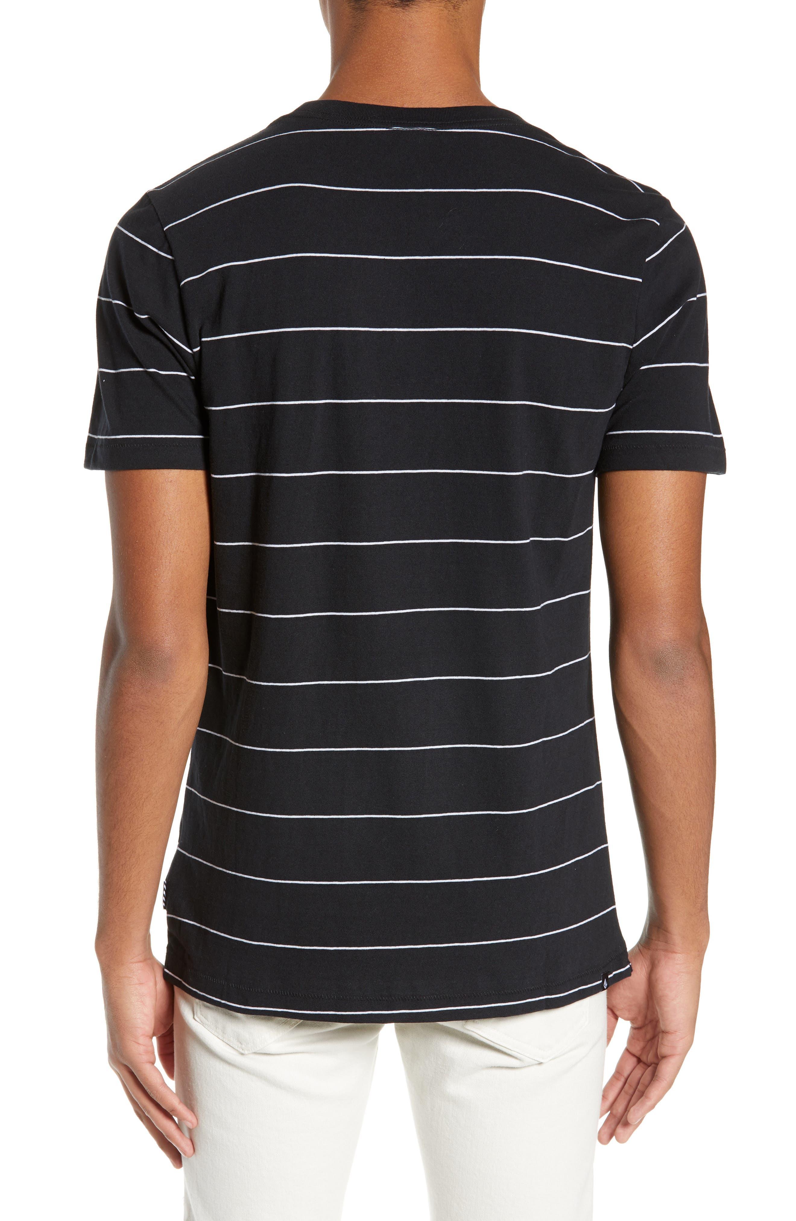 Joben Striped T-Shirt,                             Alternate thumbnail 2, color,                             BLACK
