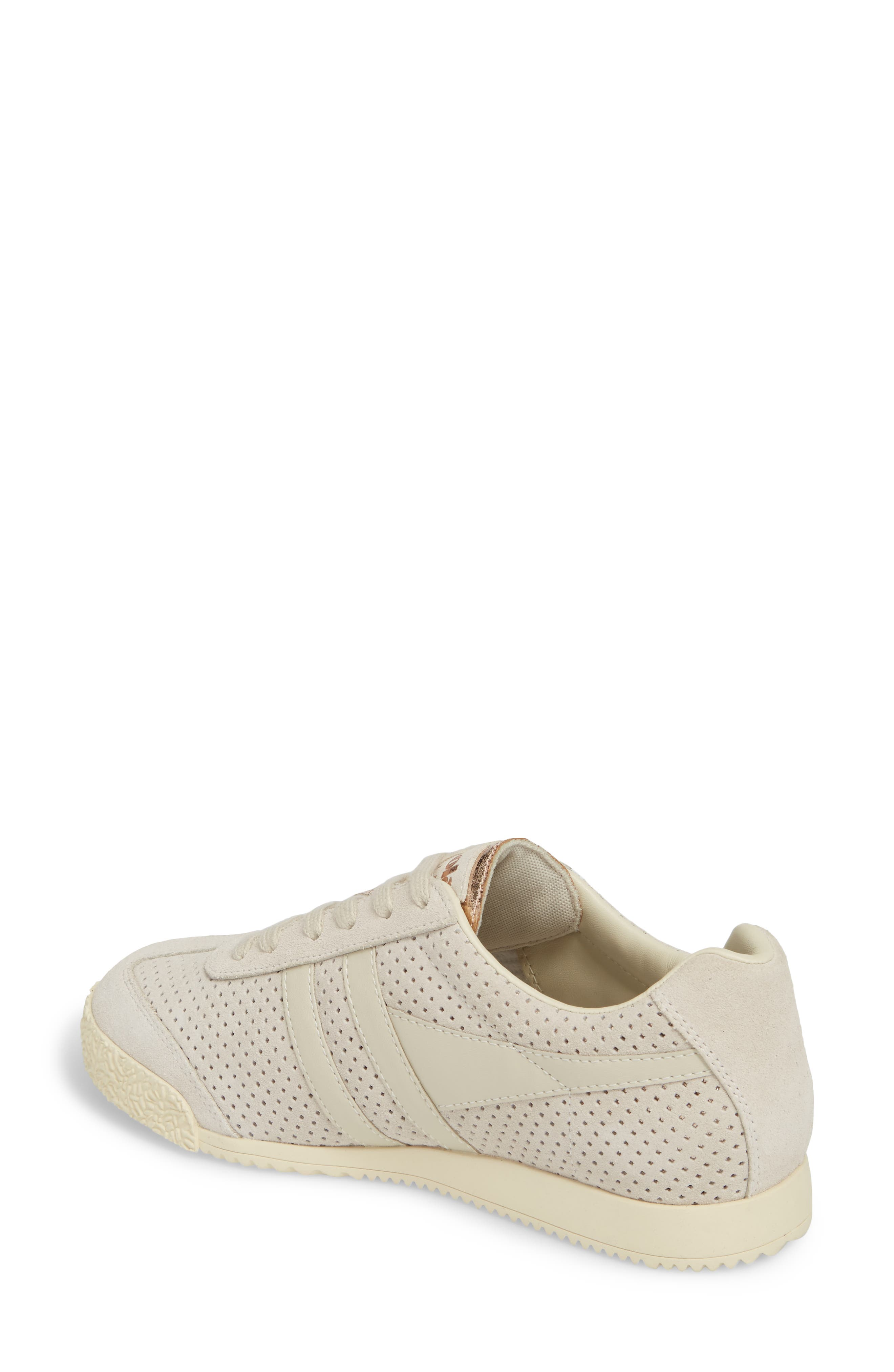 Harrier Glimmer Suede Low Top Sneaker,                             Alternate thumbnail 2, color,                             WINDCHIME/ GOLD/ OFF WHITE