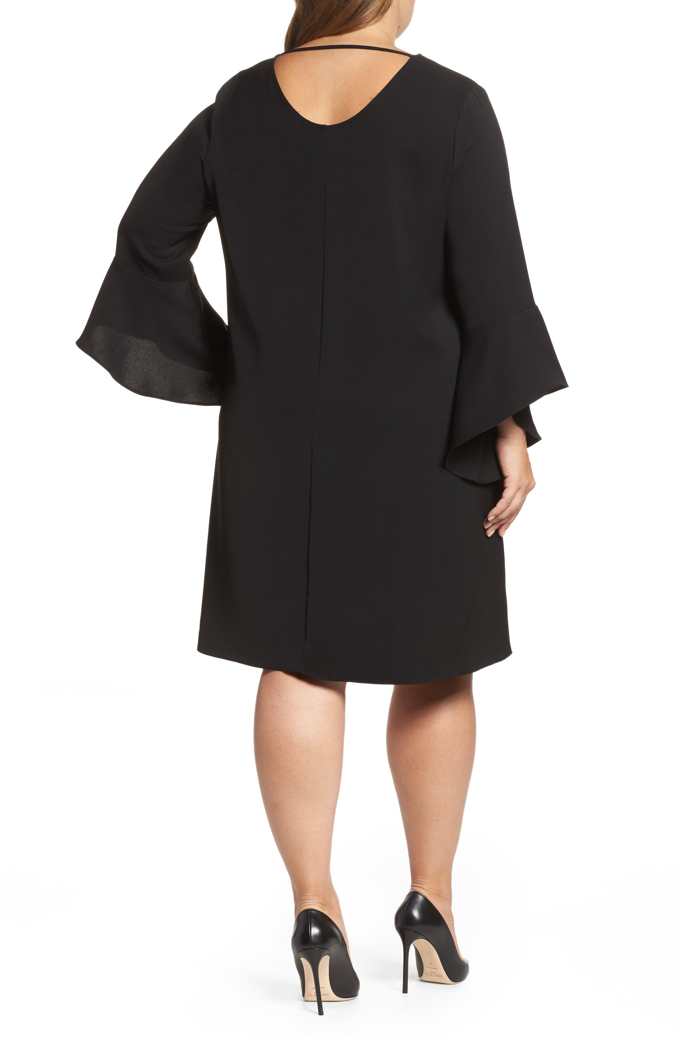 Bell Sleeve Shift Dress,                             Alternate thumbnail 2, color,