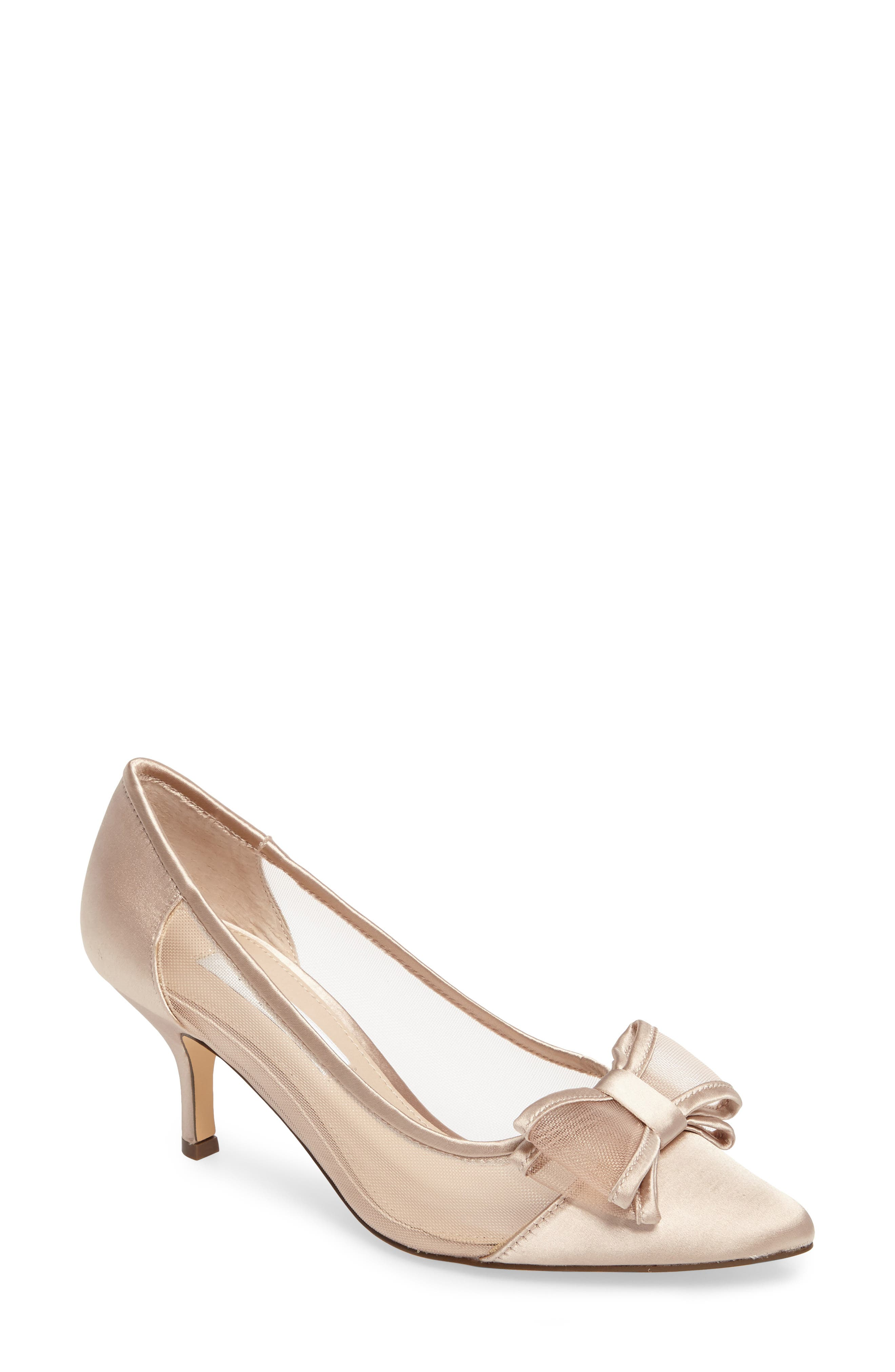 Bianca Pointy Toe Pump,                         Main,                         color, CHAMPAGNE SATIN