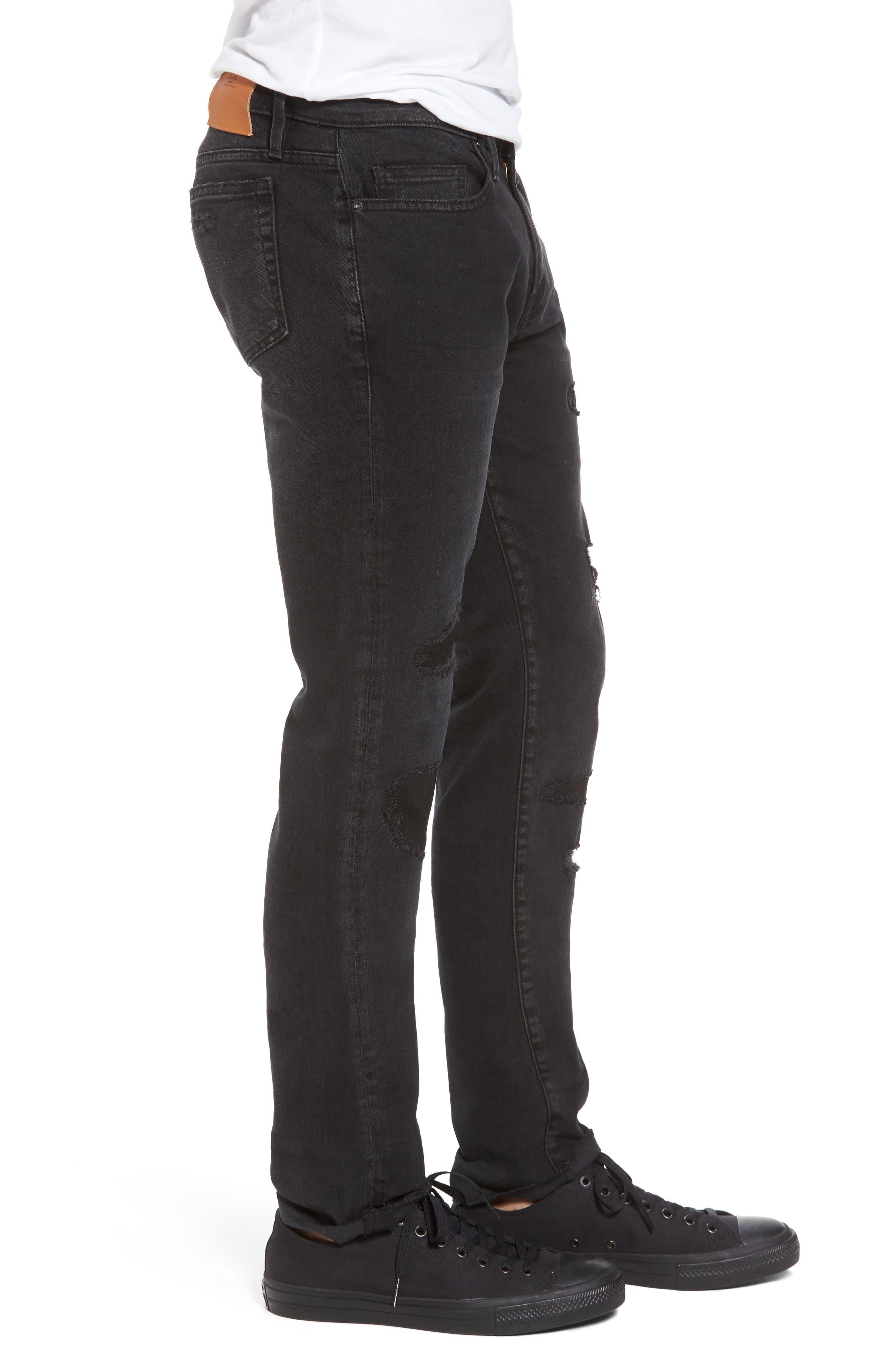 L'Homme Skinny Fit Jeans,                             Alternate thumbnail 3, color,                             001