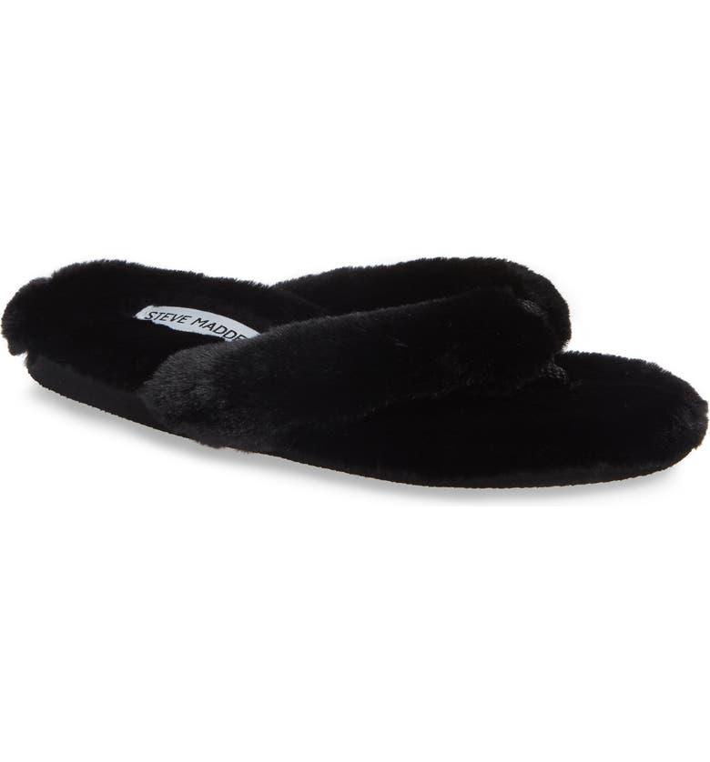 d793d51d09b Steve Madden Faux Fur Slipper Bundle Set In Black
