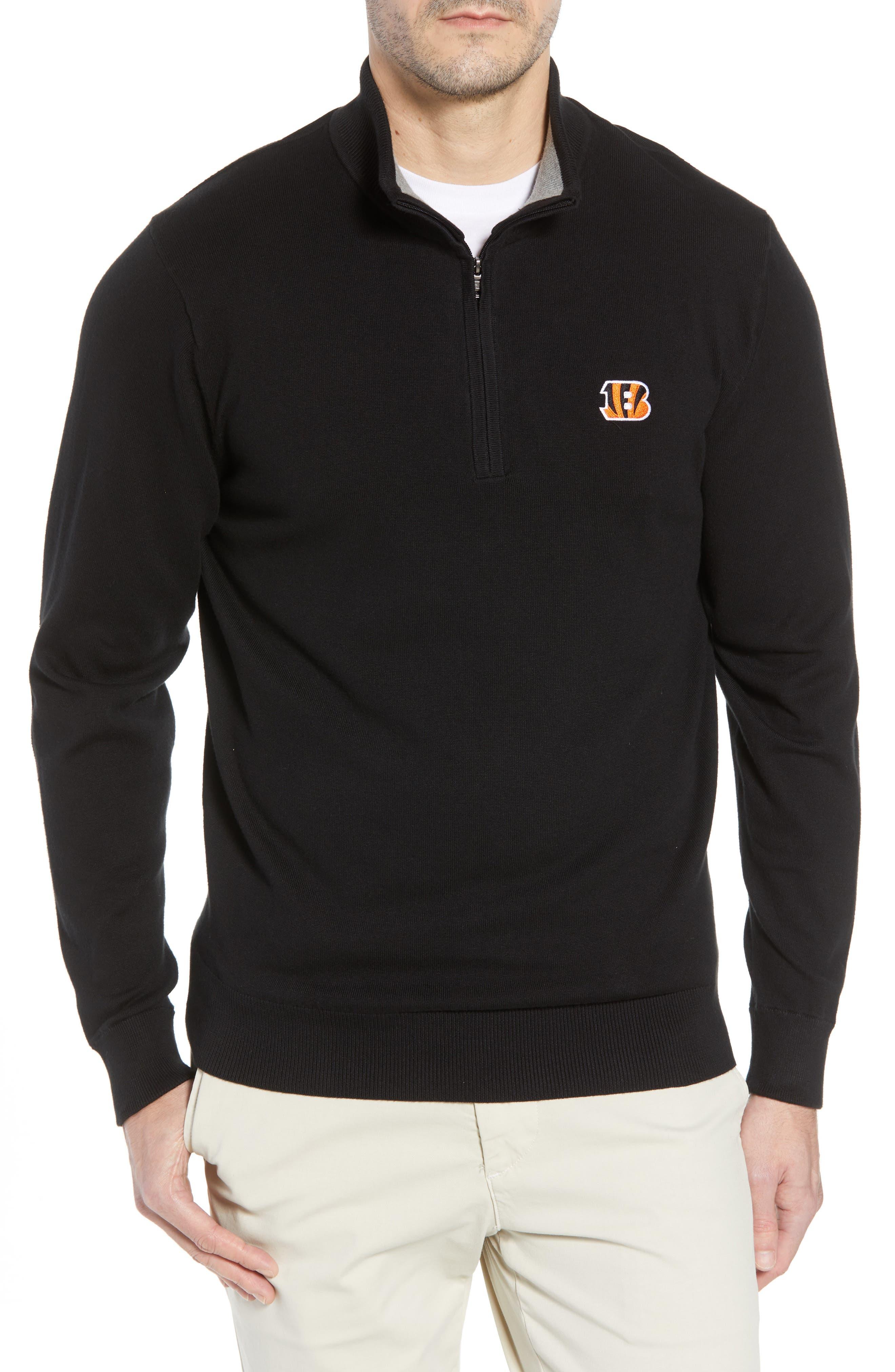 Cincinnati Bengals - Lakemont Regular Fit Quarter Zip Sweater,                             Main thumbnail 1, color,                             001