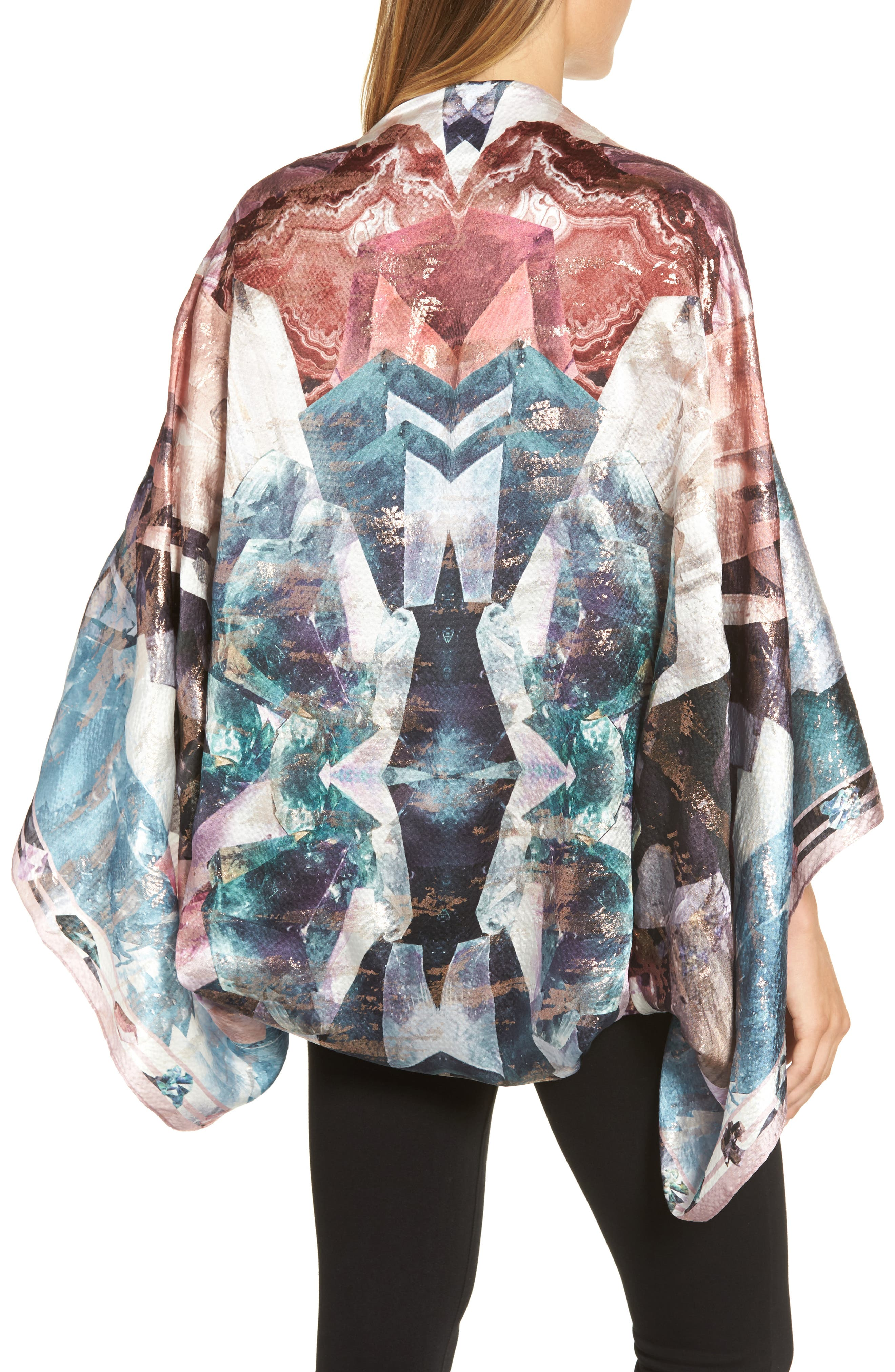 Mirrored Minerals Silk Cape Scarf,                             Alternate thumbnail 2, color,                             021