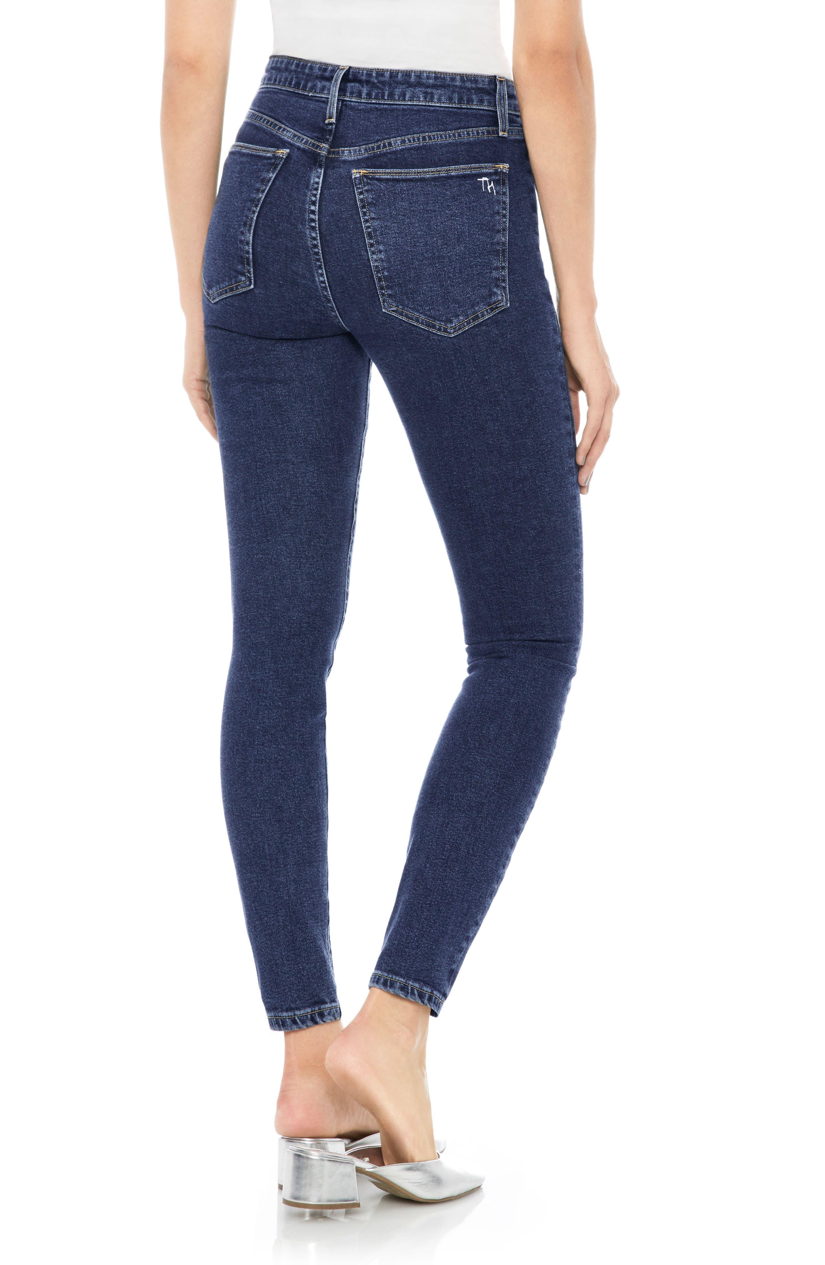 Charlie High Waist Ankle Skinny Jeans,                             Alternate thumbnail 2, color,                             400