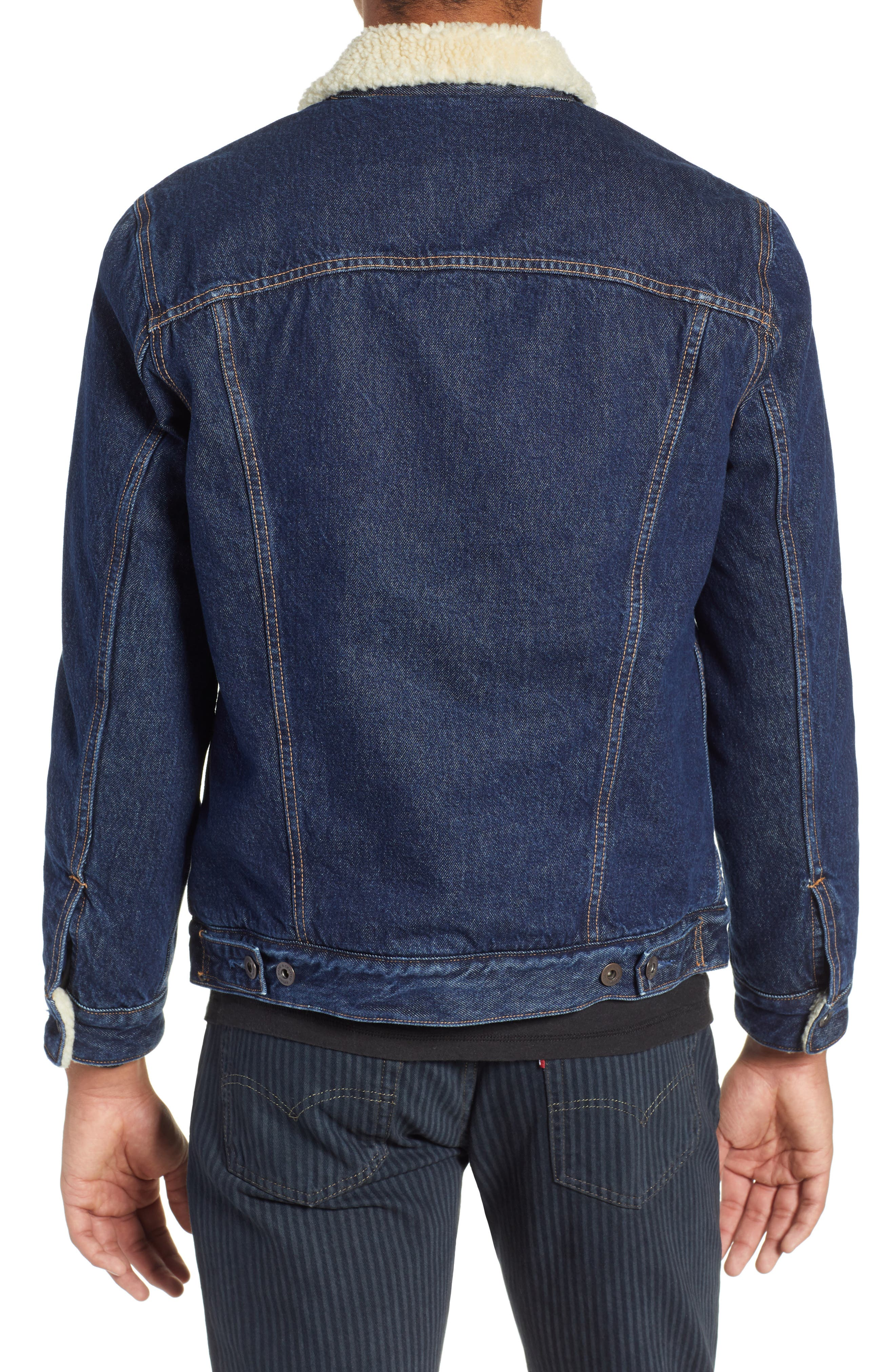 Levi's Made & Crafted<sup>™</sup> Faux Shearling Lined Denim Jacket,                             Alternate thumbnail 2, color,                             CANYON