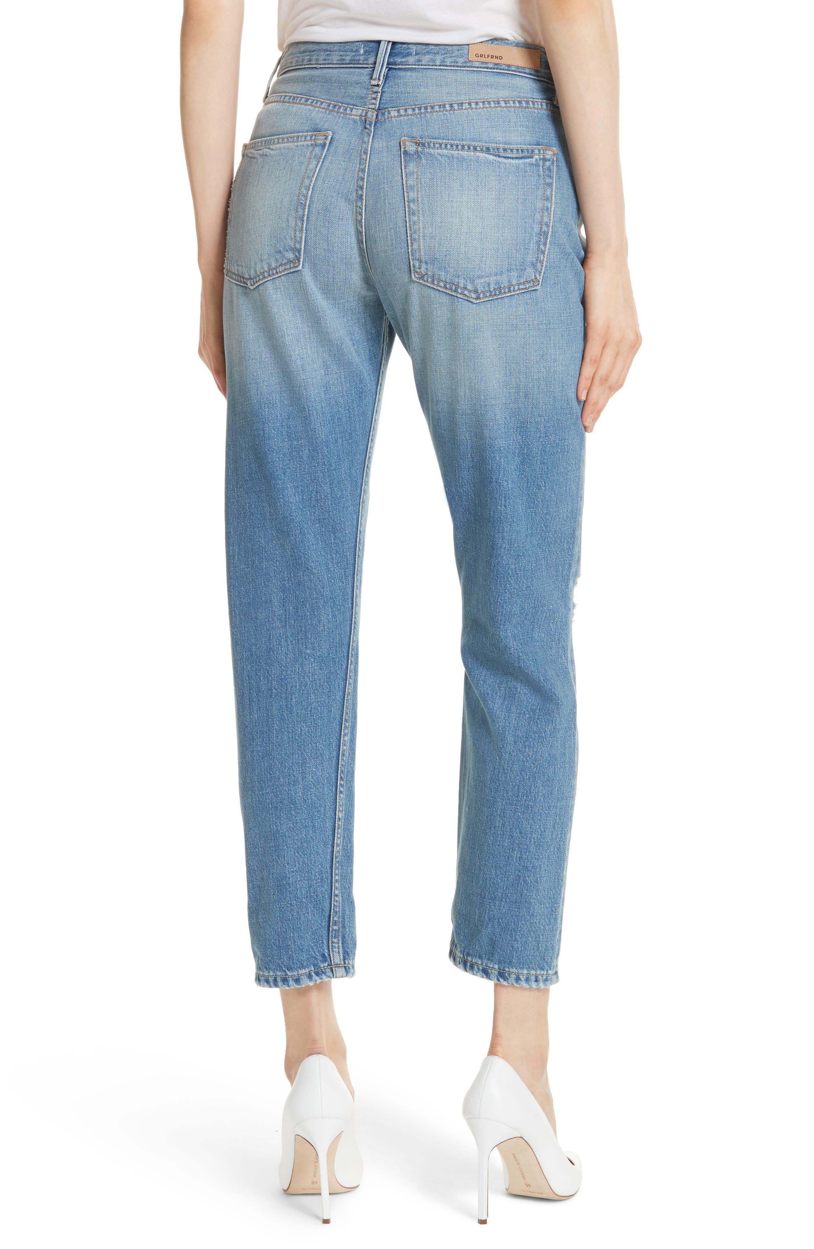 Kiara High Waist Ankle Boyfriend Jeans,                             Alternate thumbnail 2, color,                             464