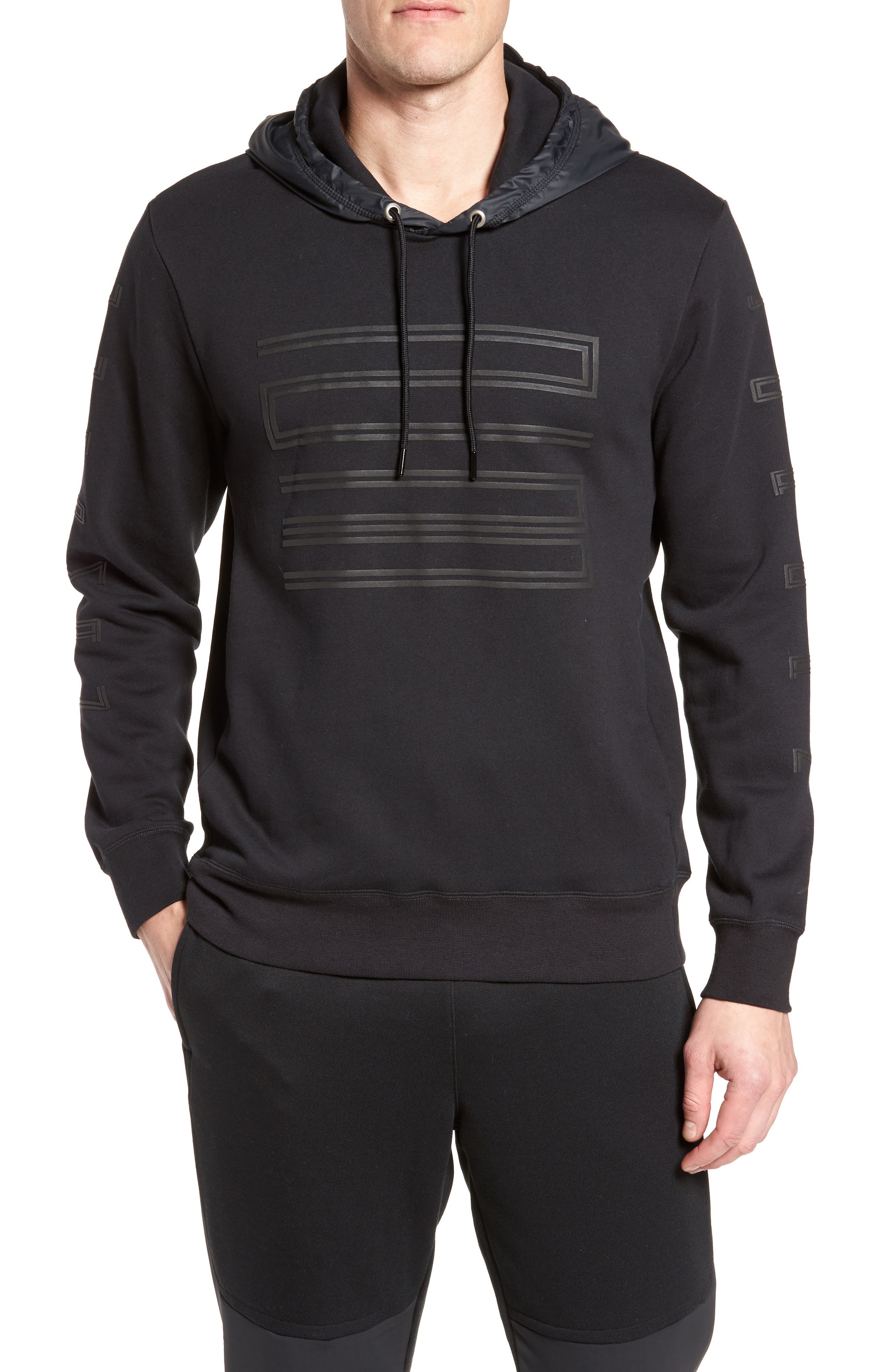 Sportswear AJ11 Hybrid Hoodie,                             Main thumbnail 1, color,                             010