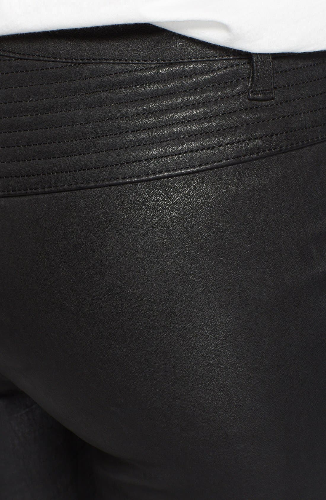Leather Motorcycle Pants,                             Alternate thumbnail 2, color,                             001