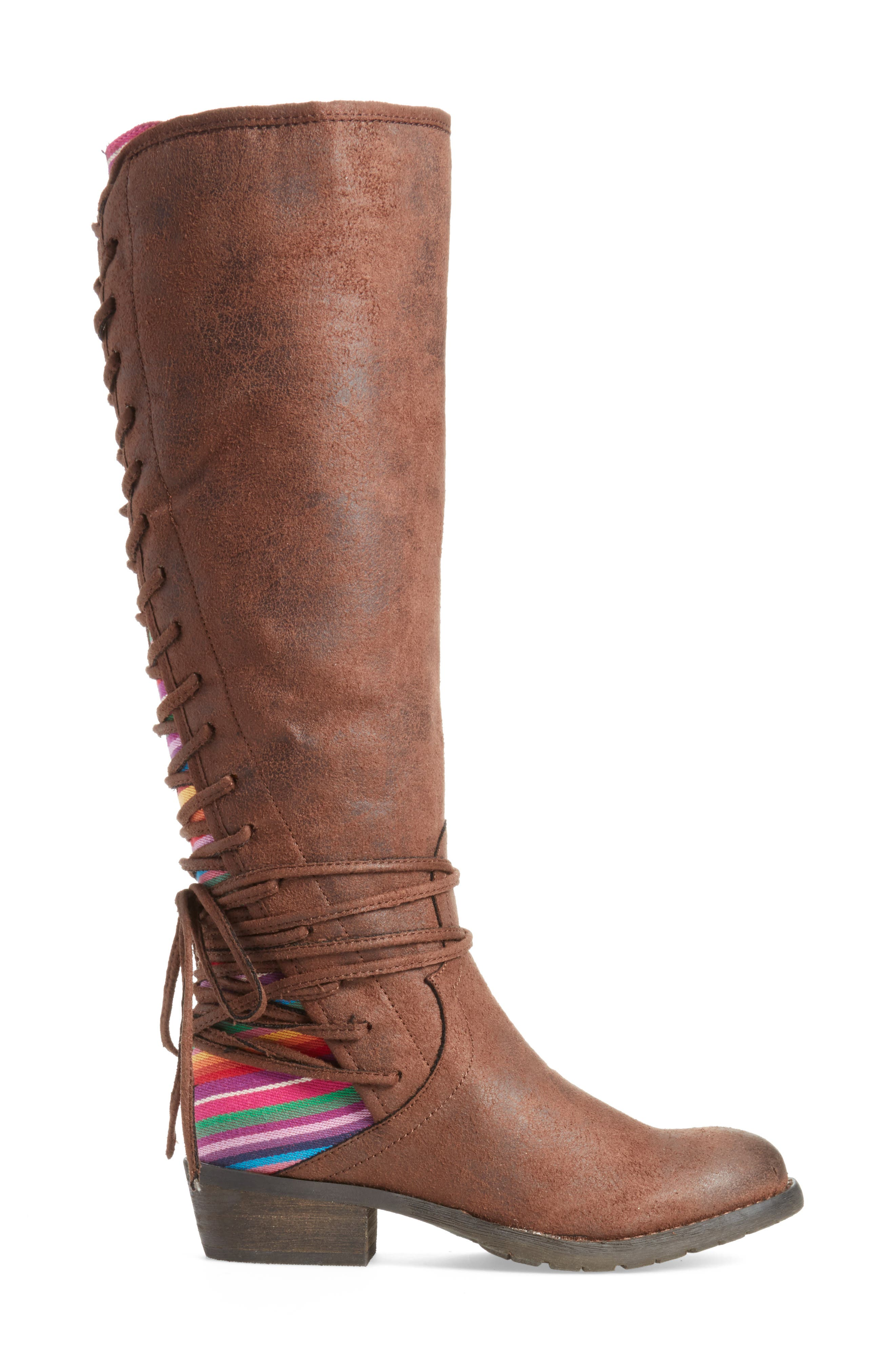 Marcel Corseted Knee High Boot,                             Alternate thumbnail 3, color,                             SERAPE