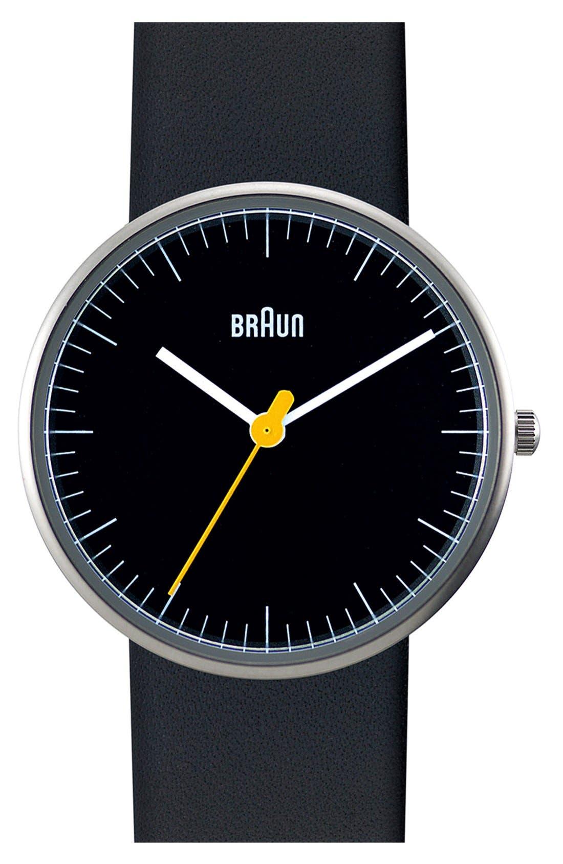 BRAUN 'Classic' Strap Watch, 31mm, Main, color, 001