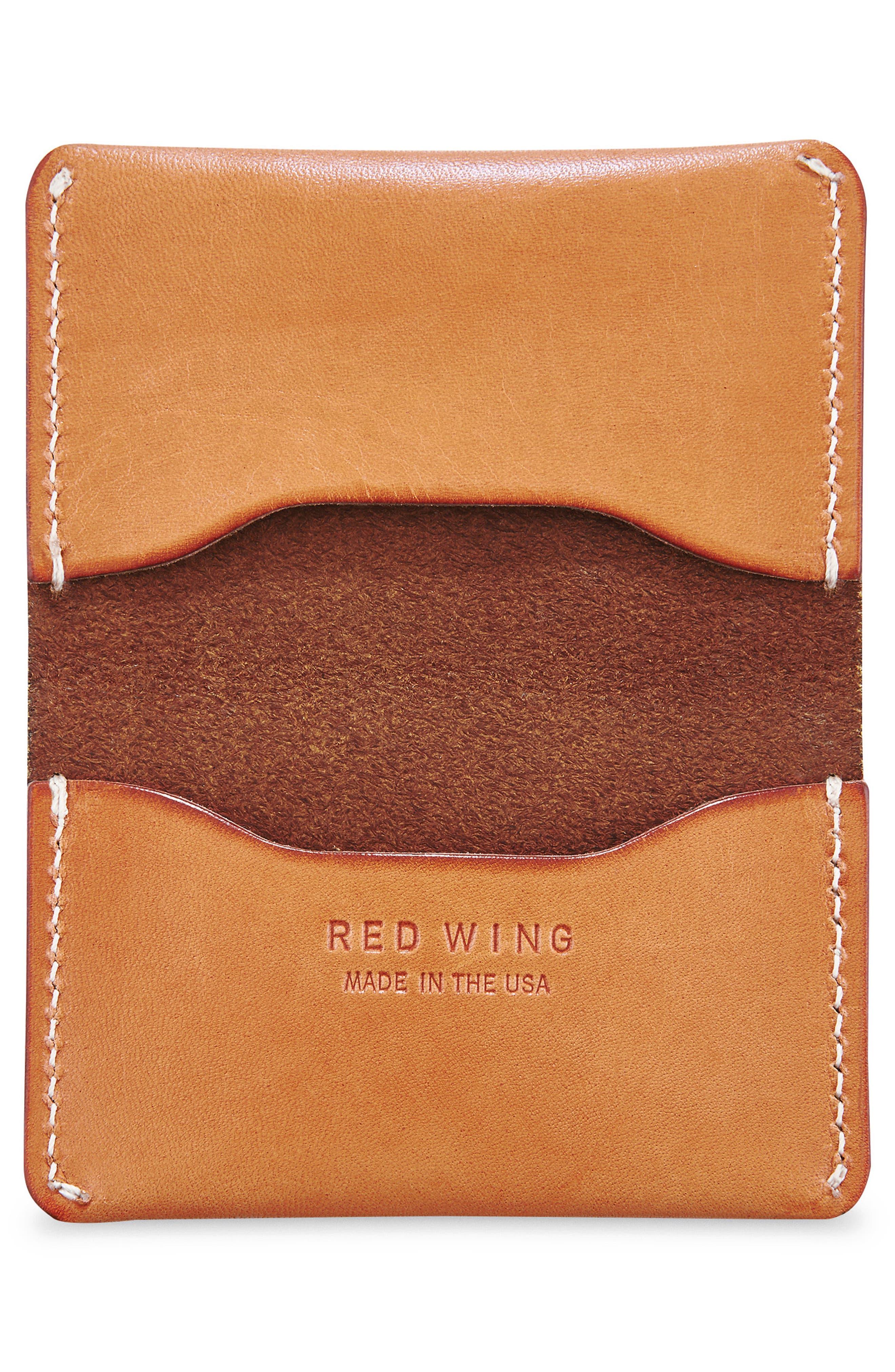 Leather Card Holder,                             Alternate thumbnail 2, color,                             TANNED VEGETABLE