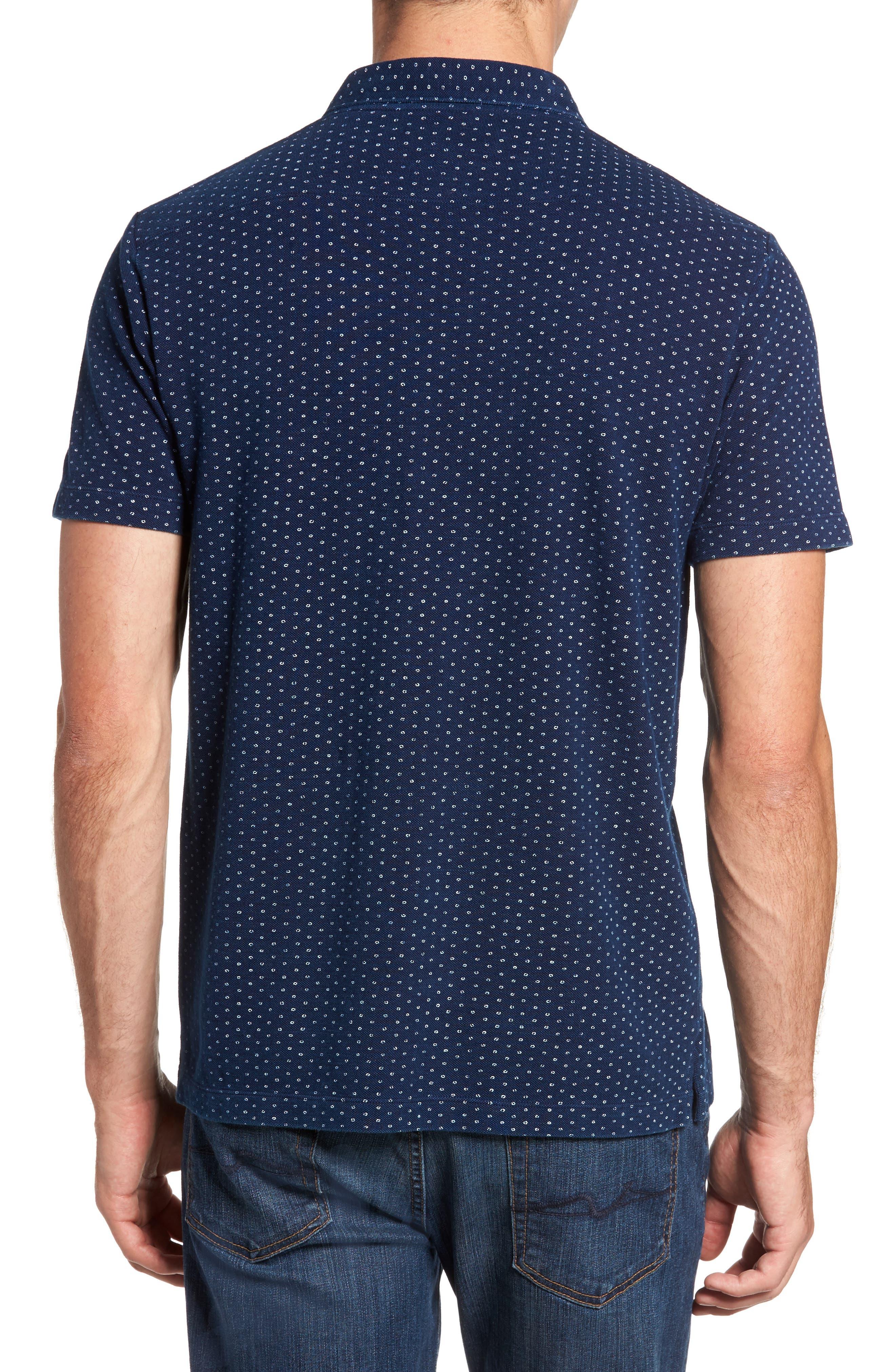 Dojo Dot Regular Fit Cotton Polo,                             Alternate thumbnail 2, color,