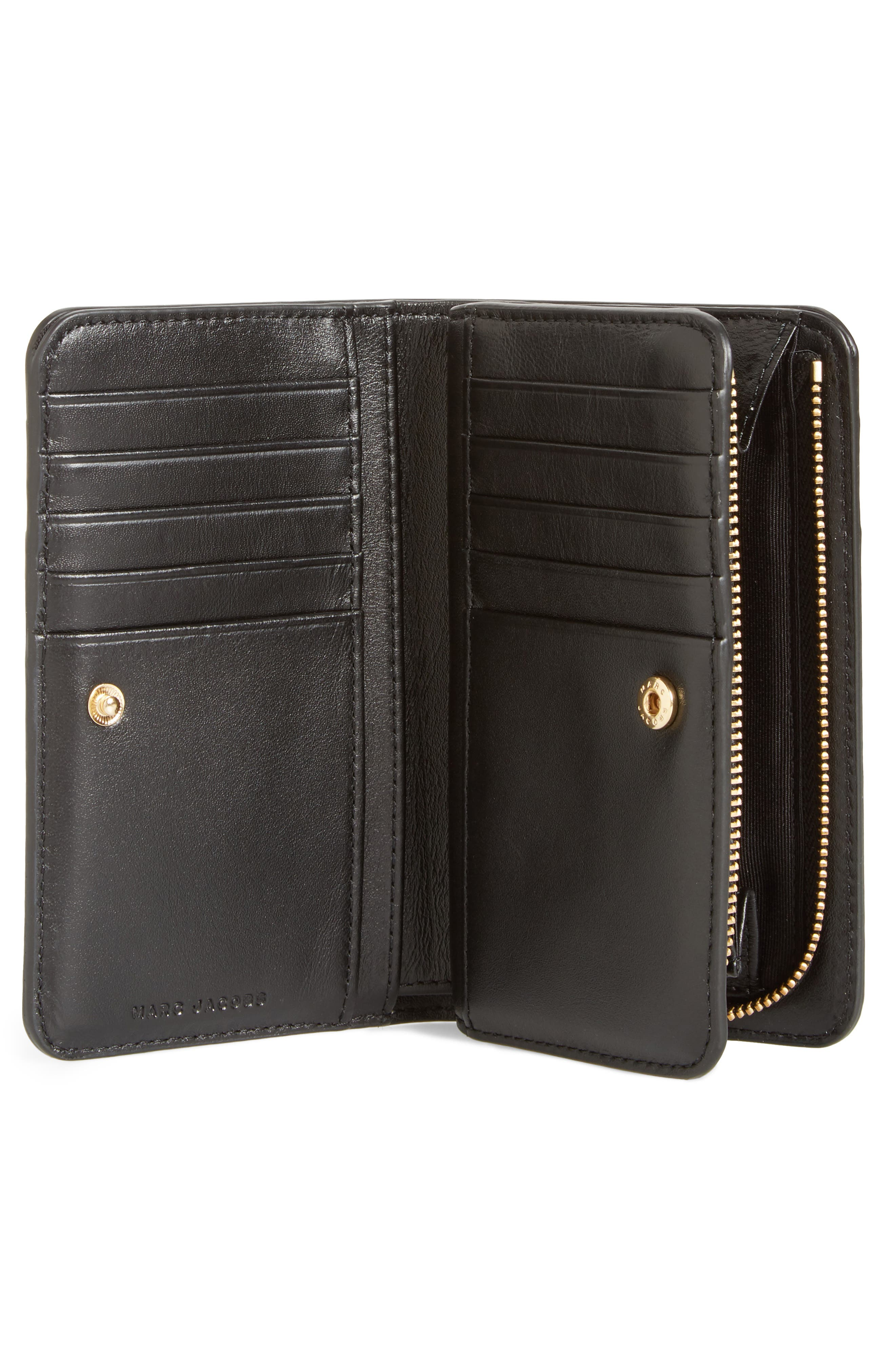 Saffiano Leather Compact Wallet,                             Alternate thumbnail 8, color,