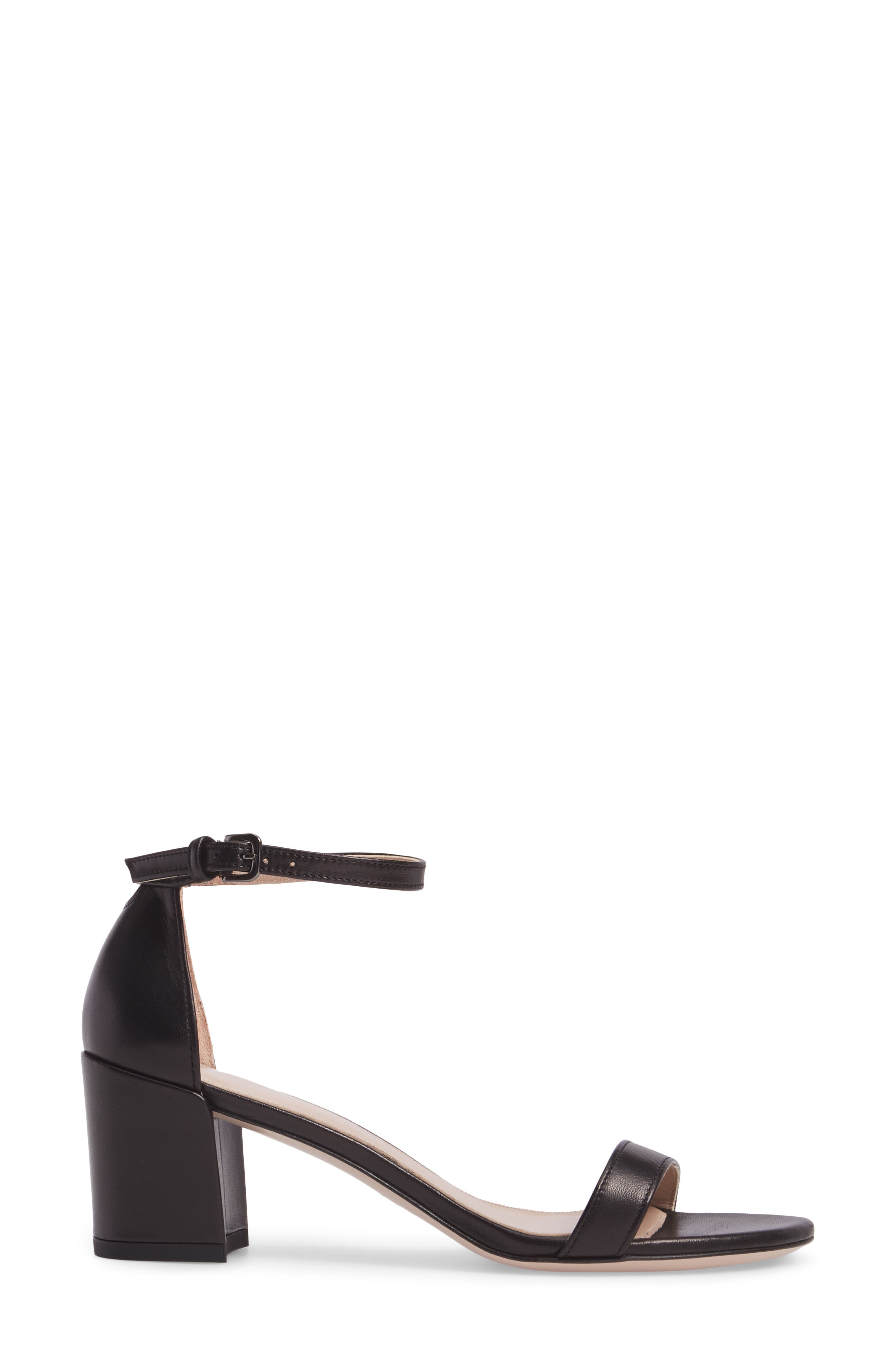 Simple Ankle Strap Sandal,                             Alternate thumbnail 3, color,                             002