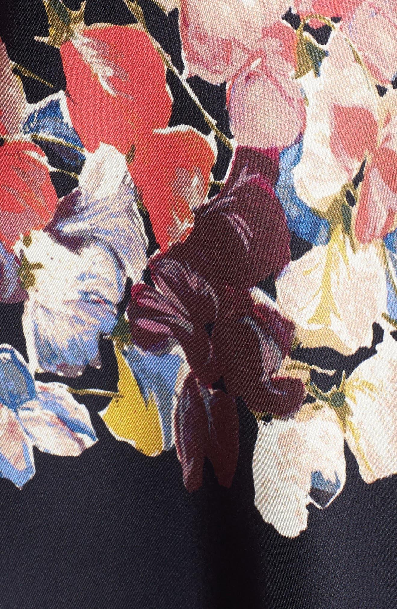 Puffed Sleeve Print Top,                             Alternate thumbnail 6, color,                             NAVY NIGHT SHERIDAN FLORAL