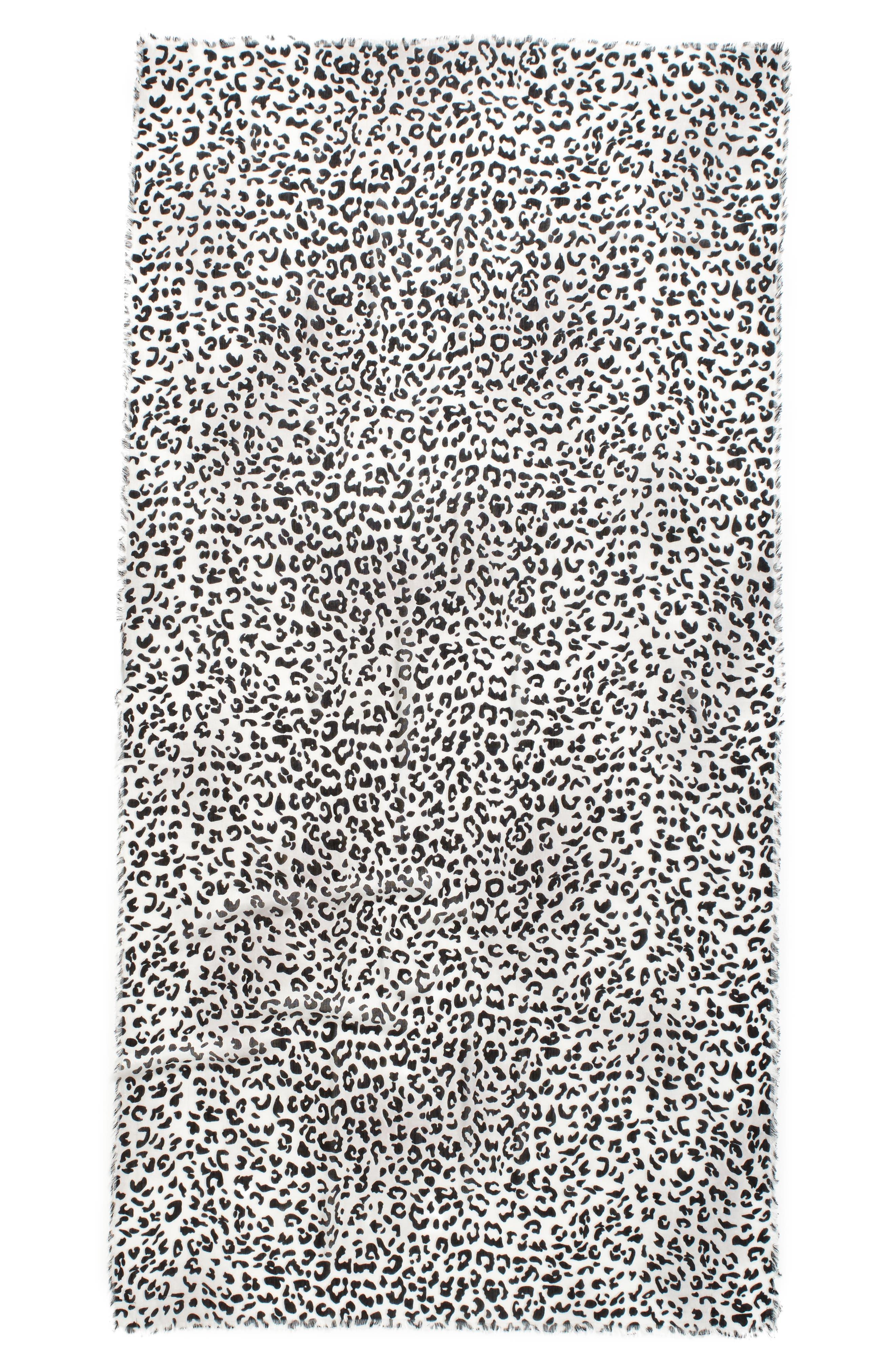 Leopard Print Wrap,                             Alternate thumbnail 2, color,                             001