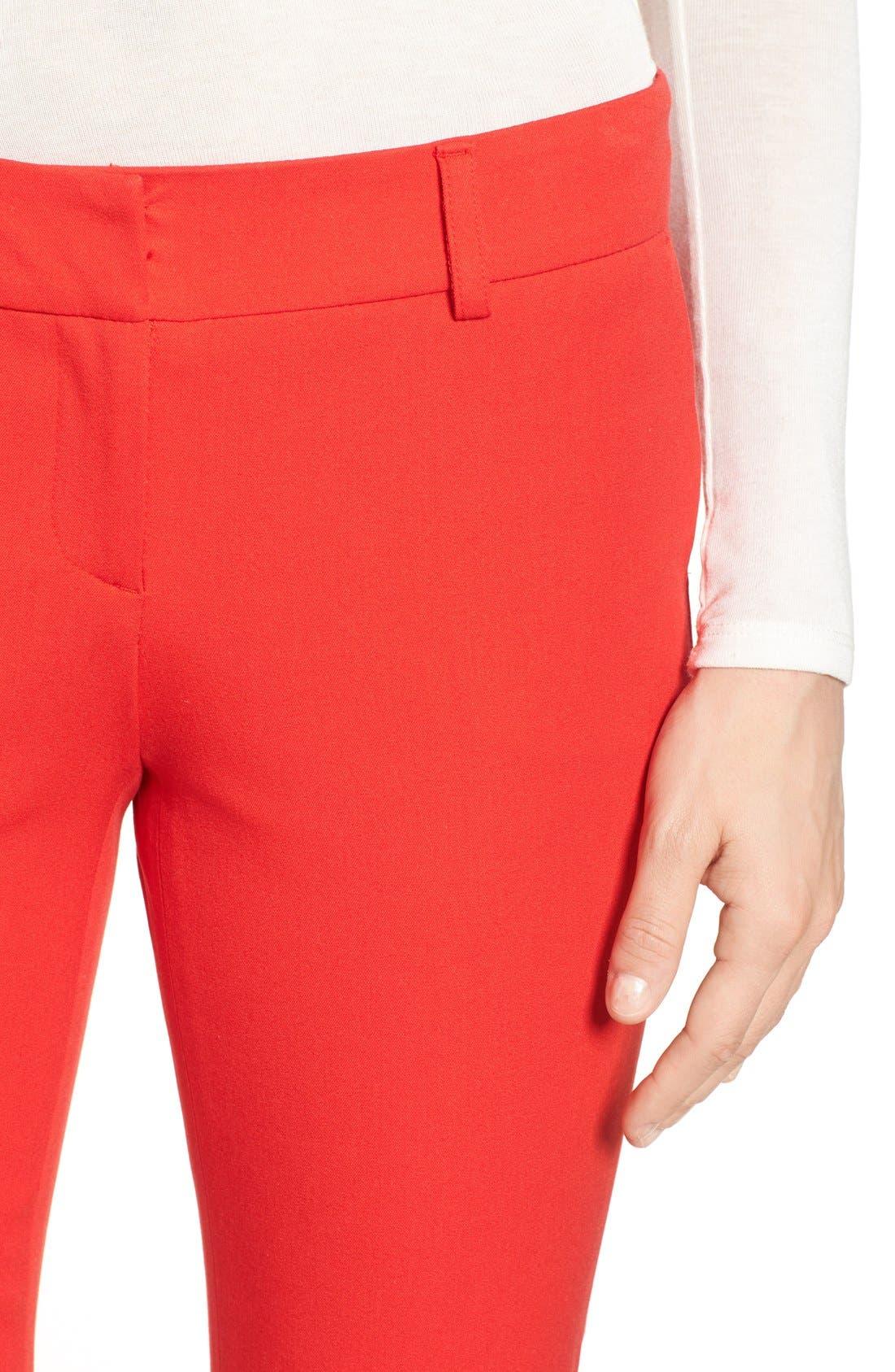 Crop Stretch Cotton Pants,                             Alternate thumbnail 105, color,