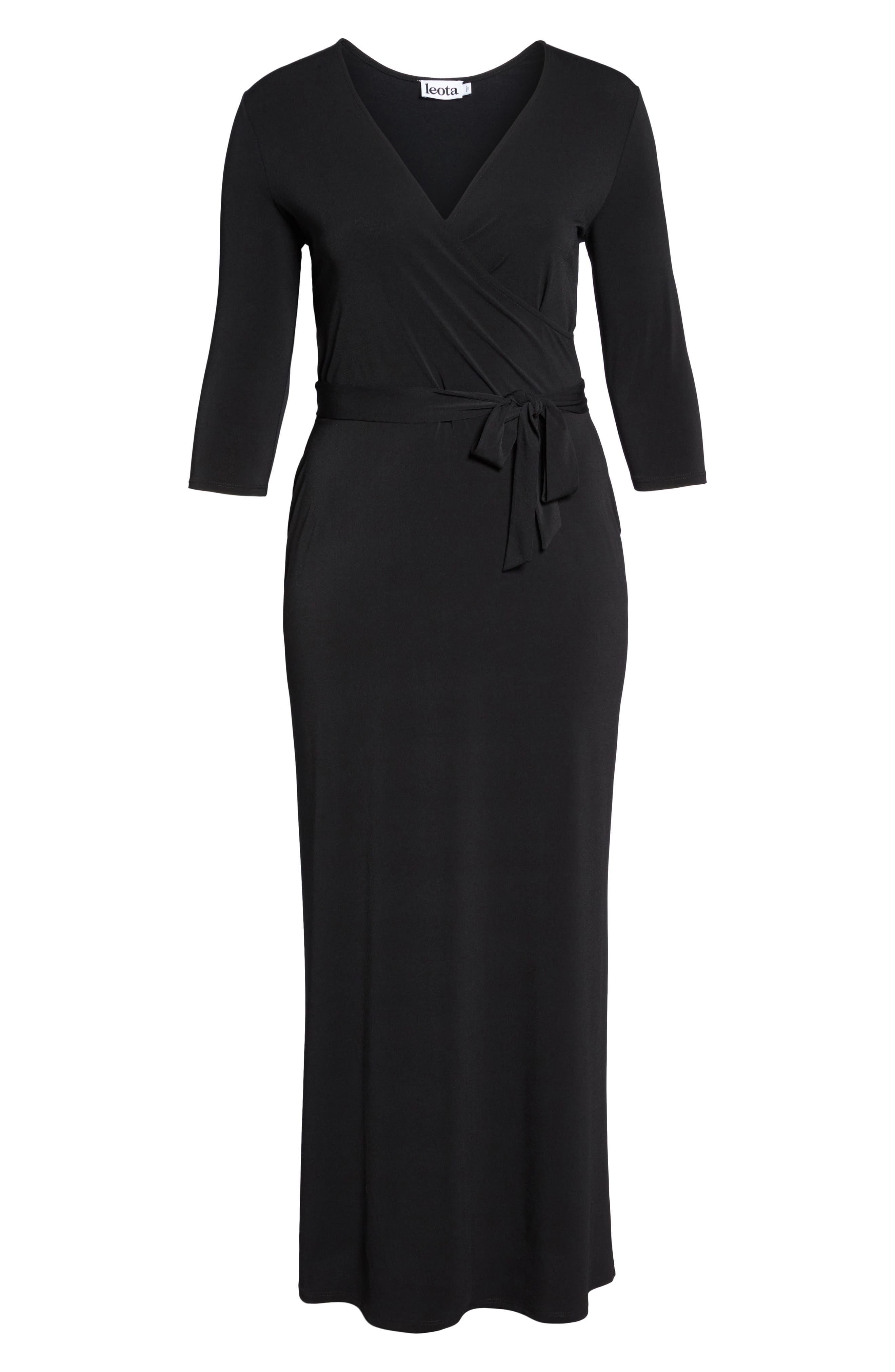 Perfect Faux Wrap Maxi Dress,                             Alternate thumbnail 6, color,                             002