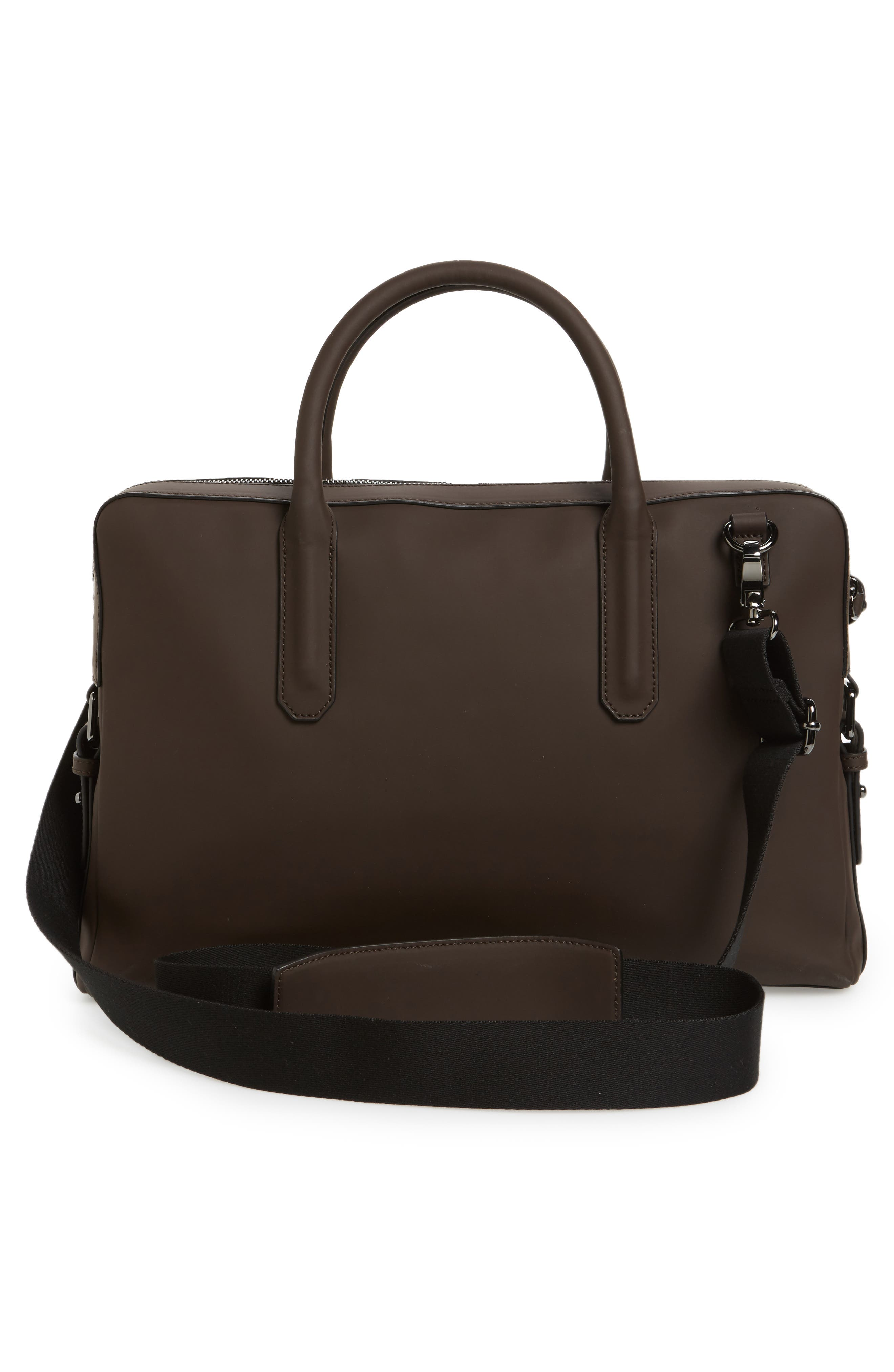Ozboz Leather Briefcase,                             Alternate thumbnail 3, color,                             214