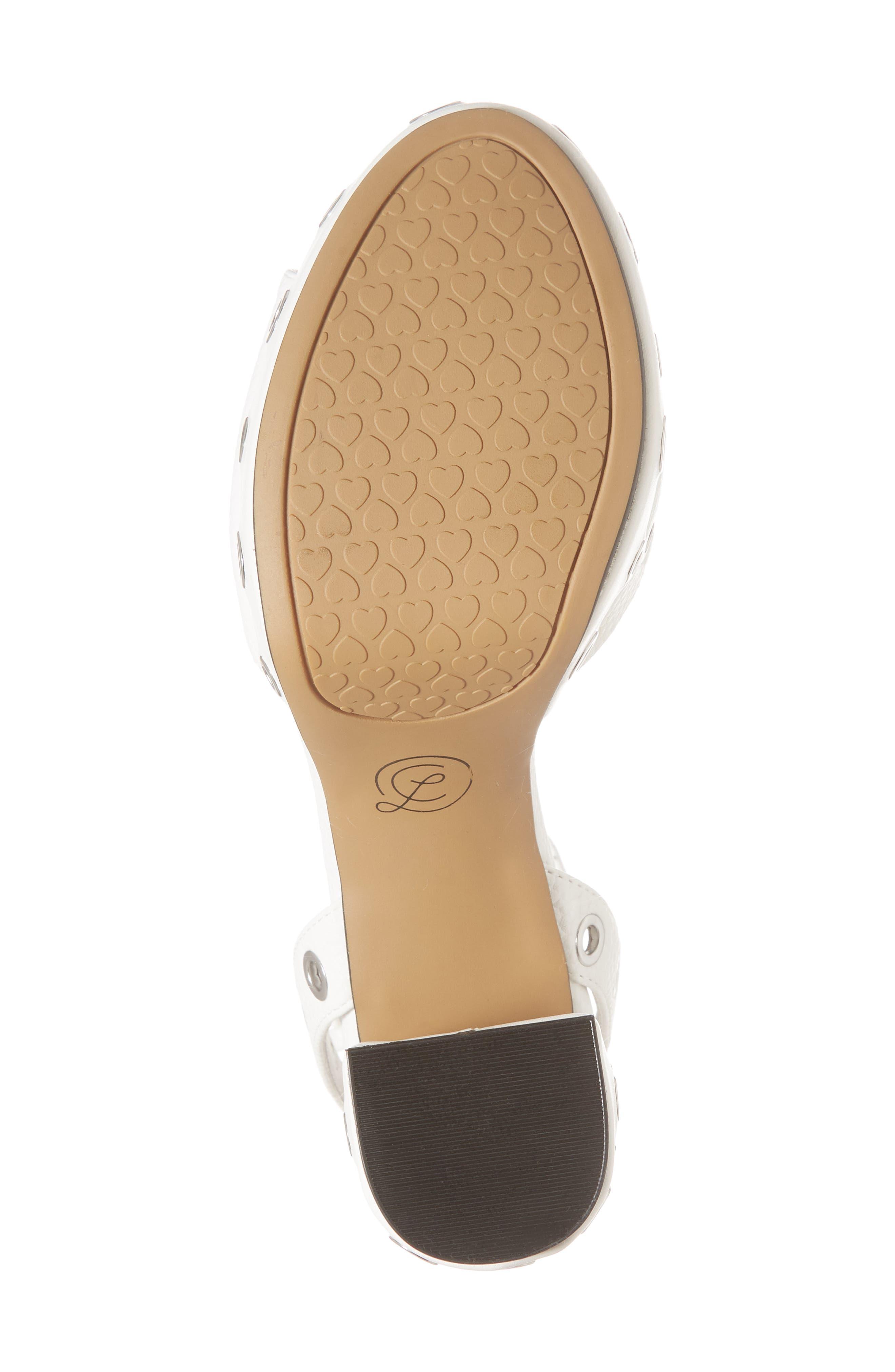 Tara Grommet Platform Sandal,                             Alternate thumbnail 6, color,                             100