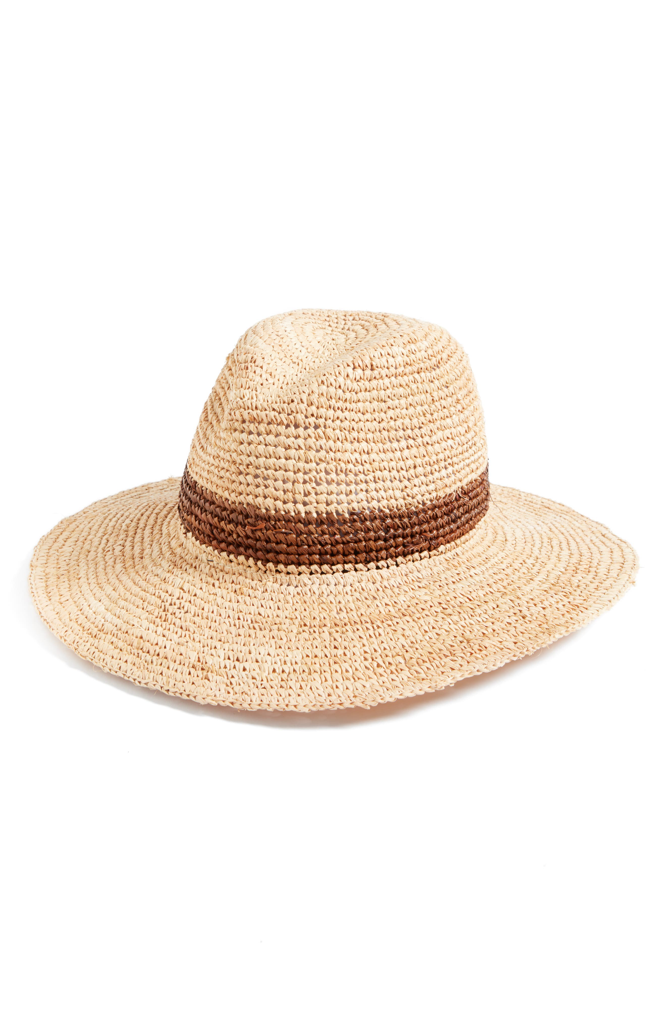 Stanton Raffia Safari Hat,                             Main thumbnail 1, color,                             200
