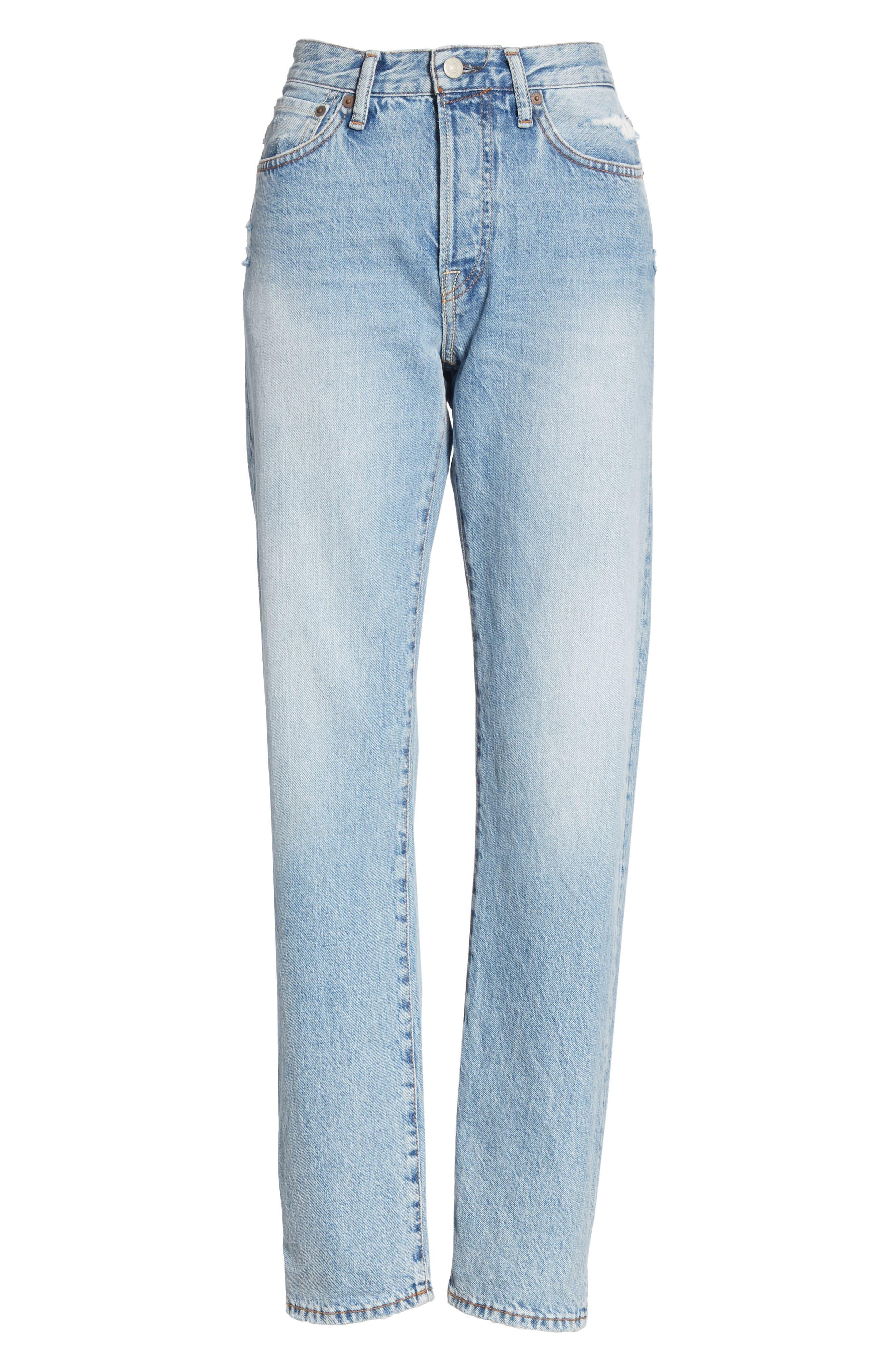 1997 Straight Leg Jeans,                             Alternate thumbnail 6, color,                             LIGHT BLUE