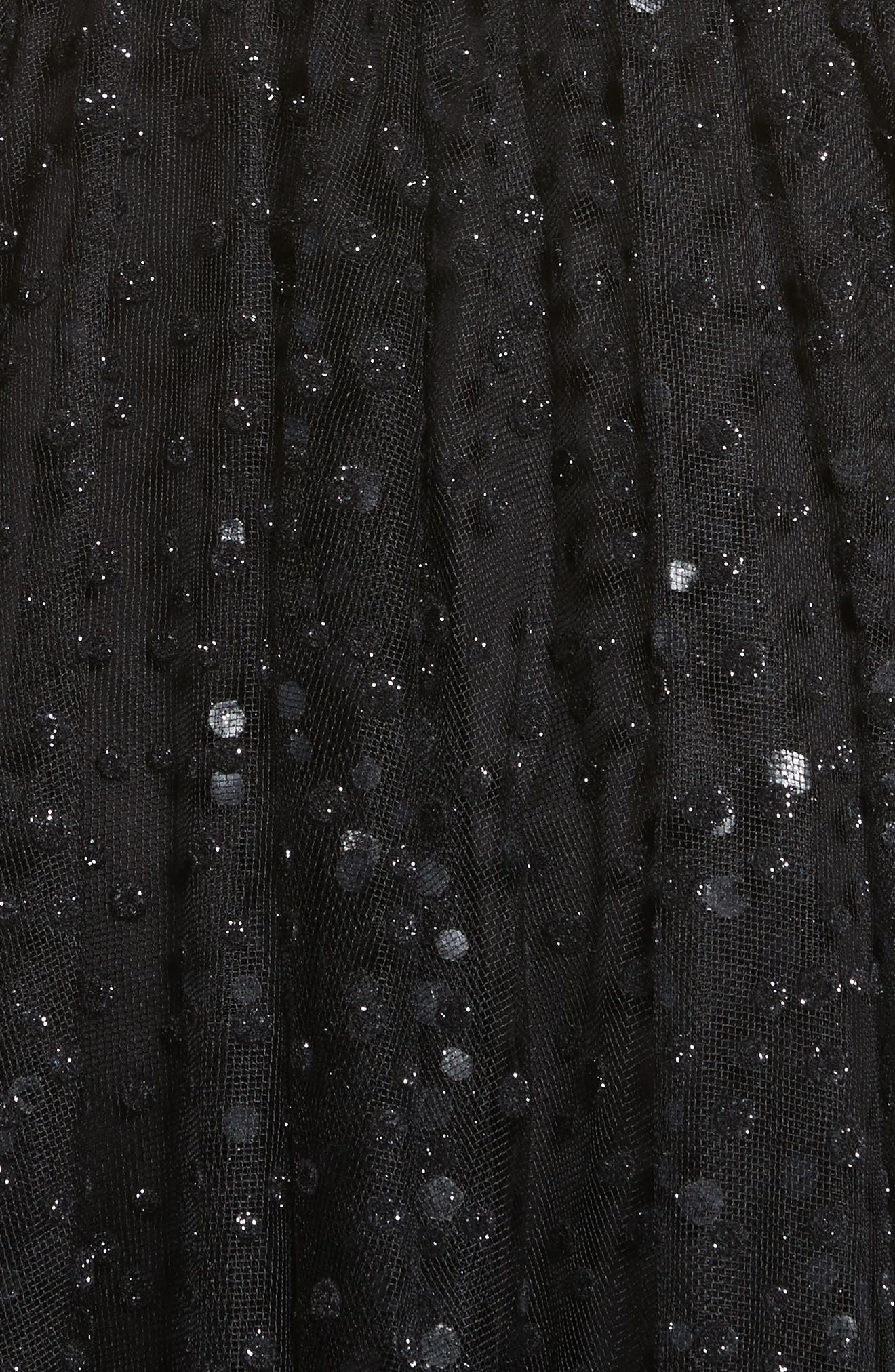 Sparkle Dot Tulle Midi Dress,                             Alternate thumbnail 5, color,