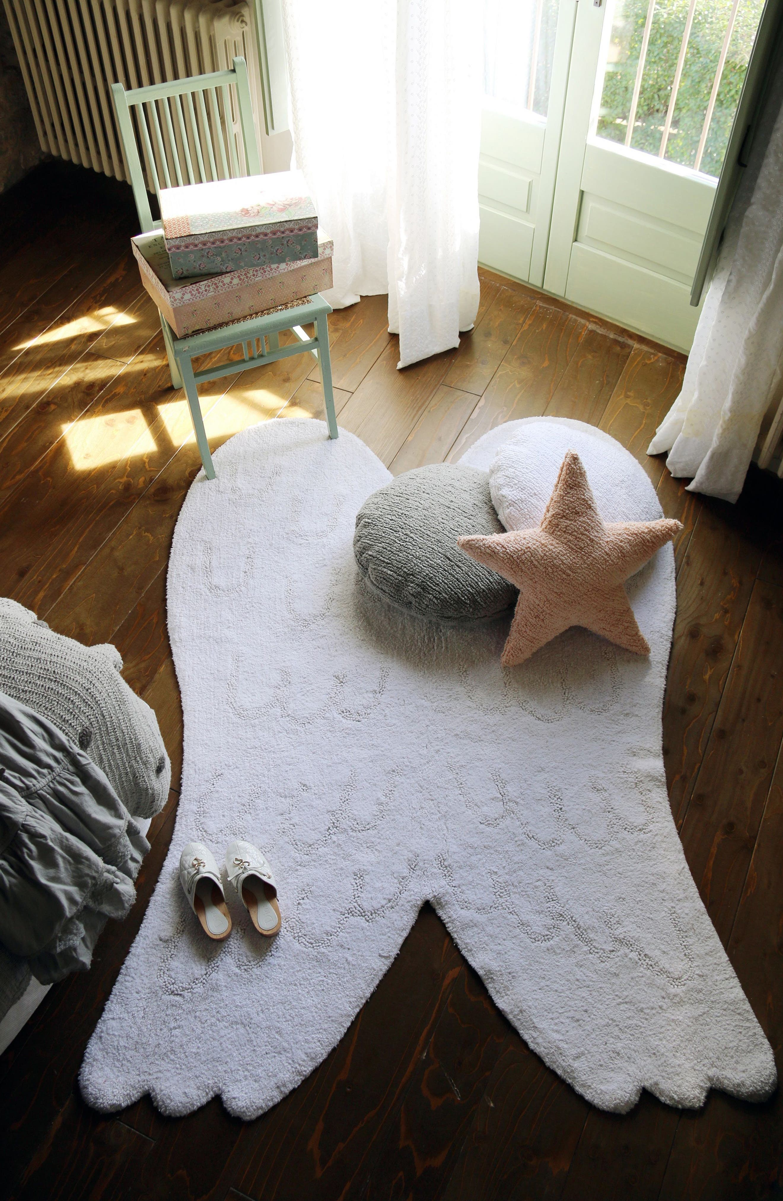 LORENA CANALS,                             Wings Rug,                             Main thumbnail 1, color,                             SILHOUETTE WINGS