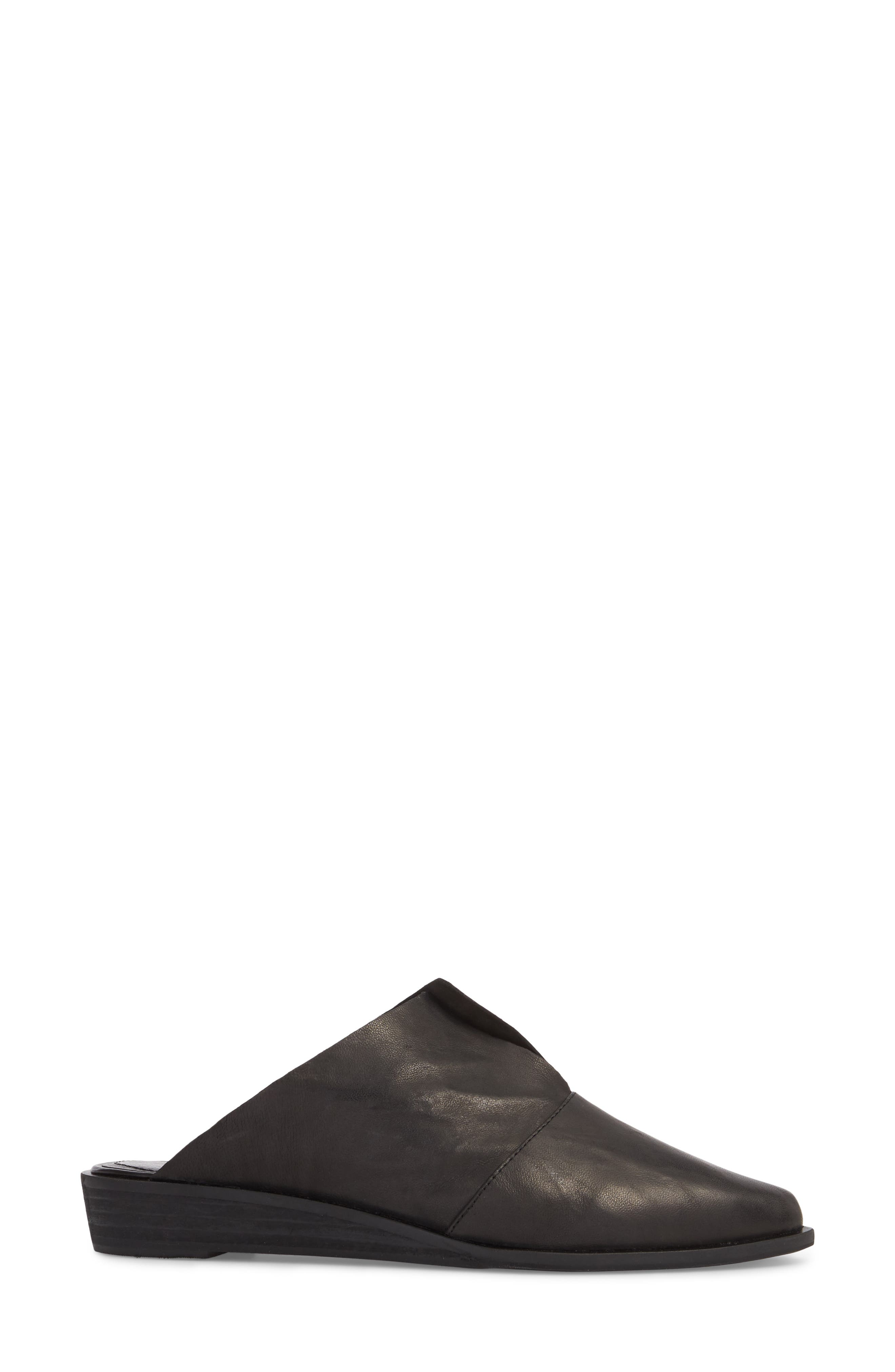 Ashland Mule,                             Alternate thumbnail 3, color,                             BLACK LEATHER