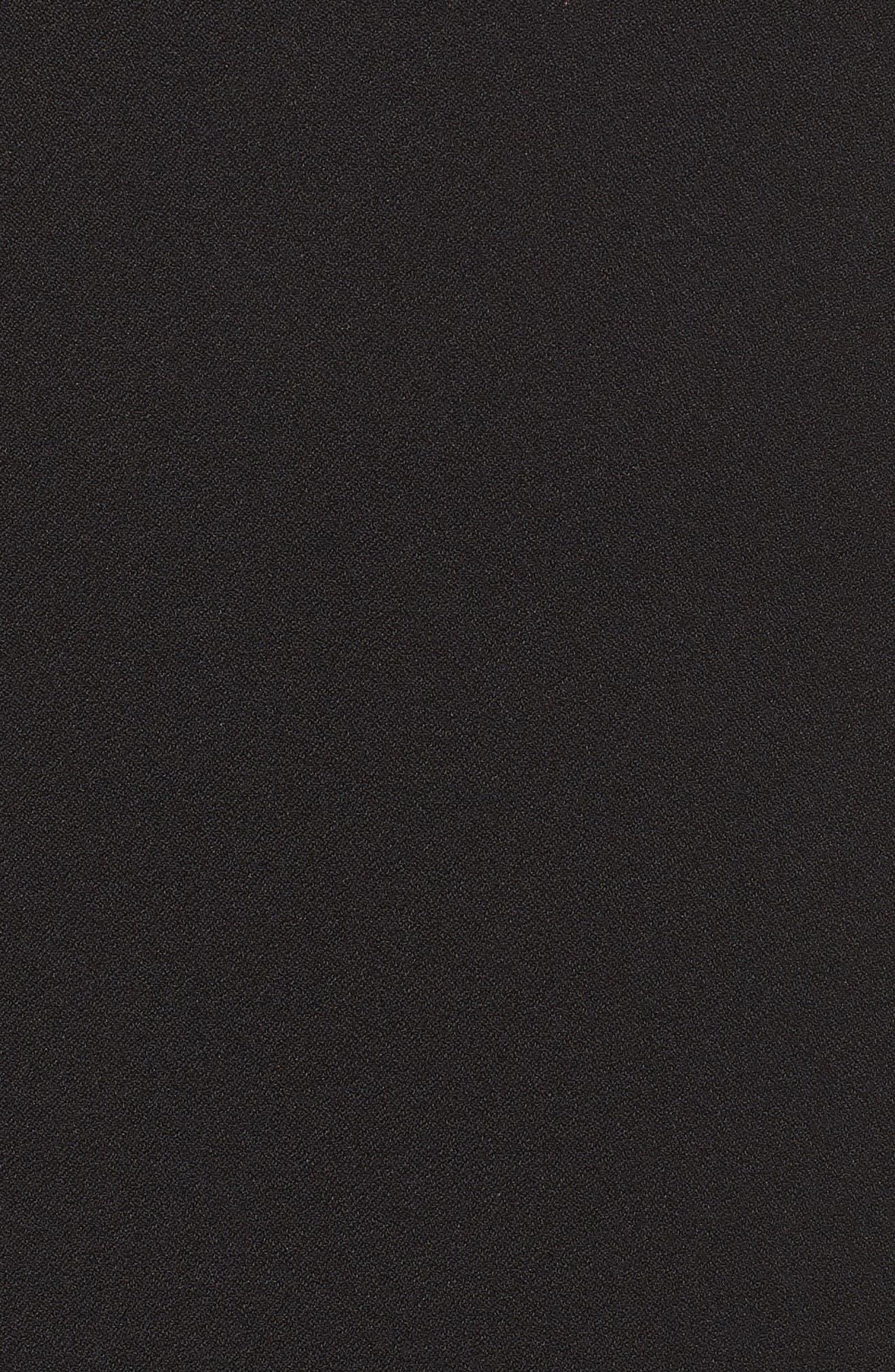Asymmetric Ruffle Hem Dress,                             Alternate thumbnail 7, color,                             001