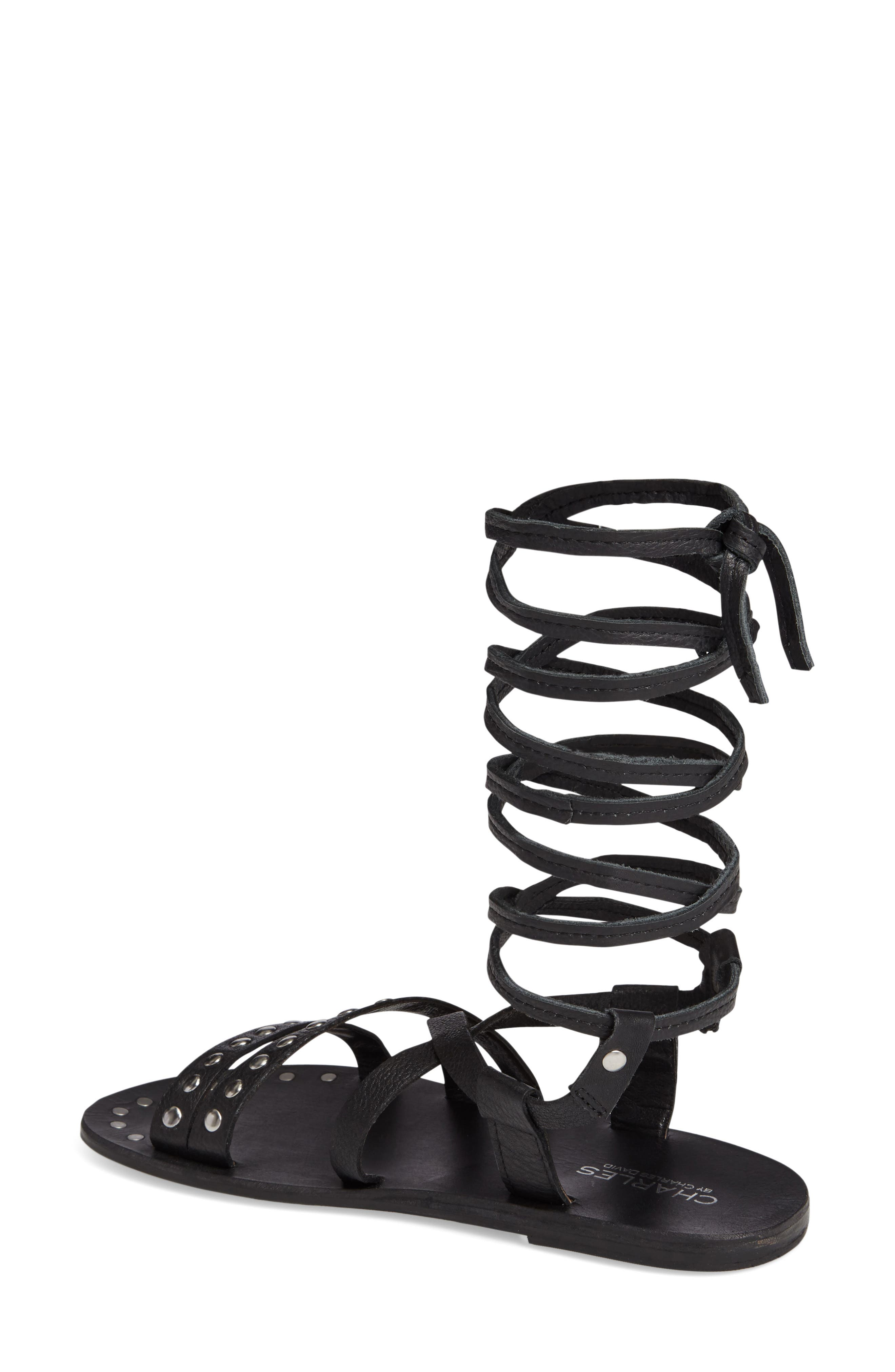 Steeler Ankle Wrap Sandal,                             Alternate thumbnail 2, color,                             001