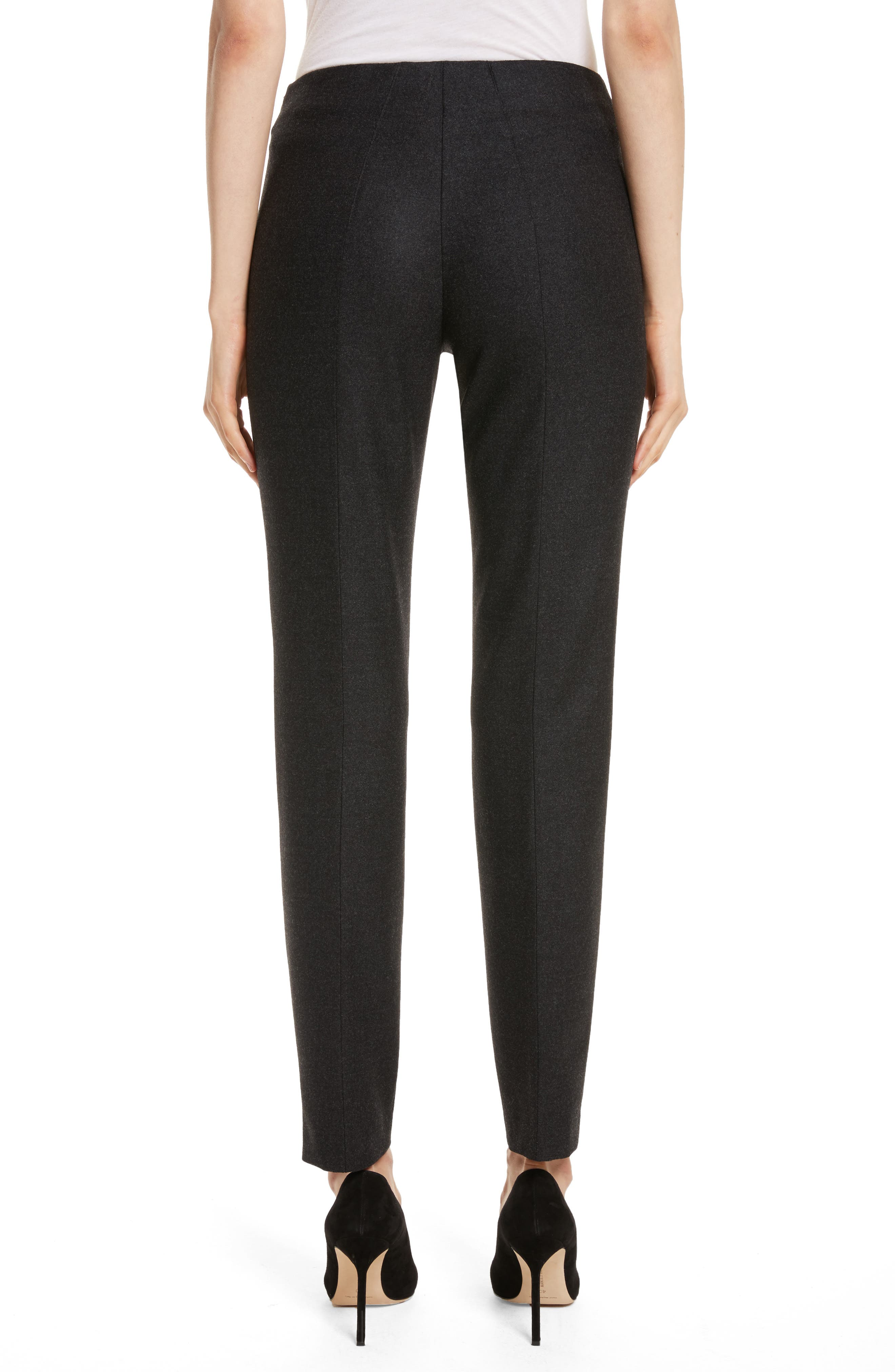 Melissa Stretch Wool Flannel Pants,                             Alternate thumbnail 2, color,                             098