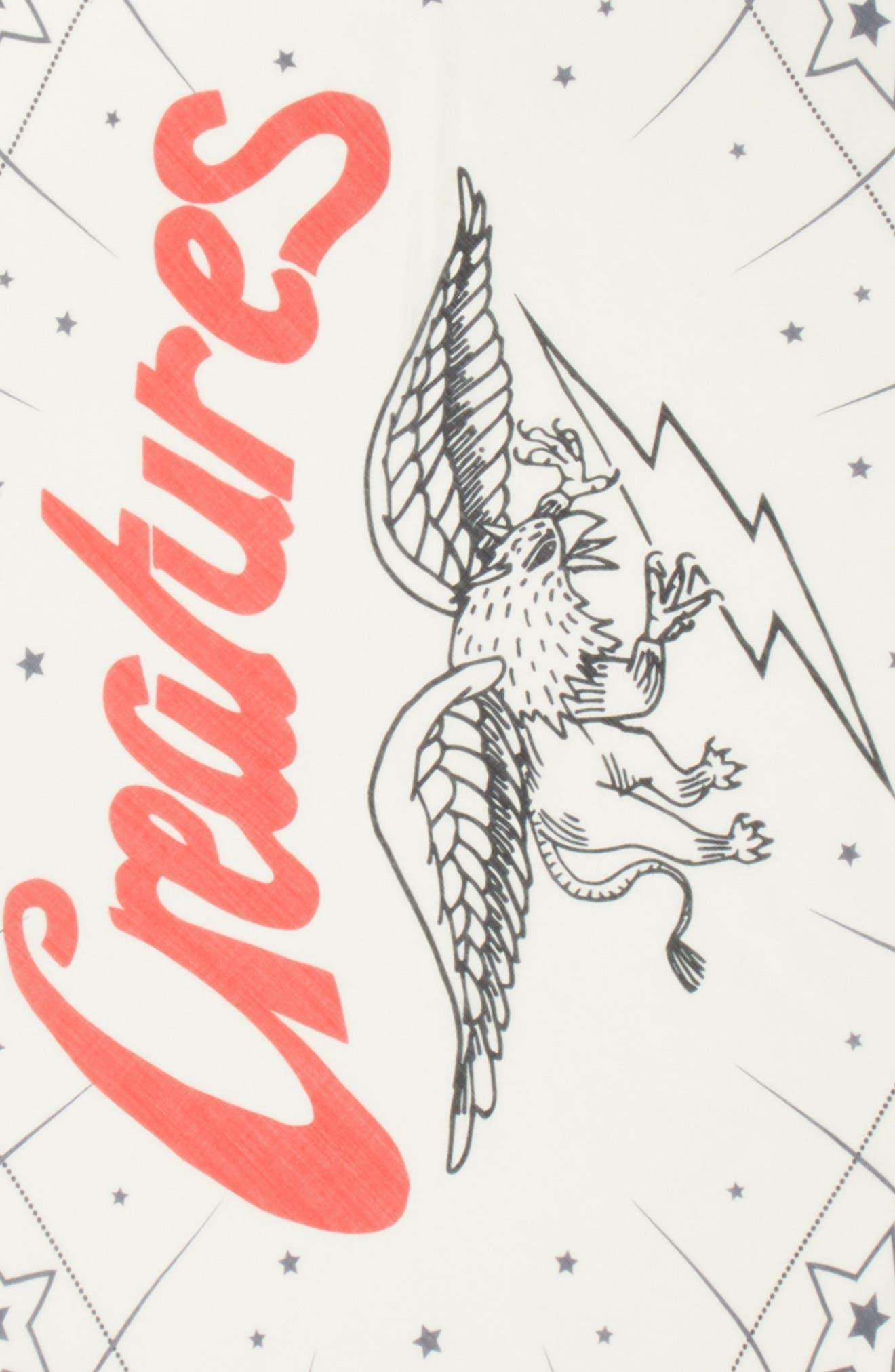 Creatures Diamond Scarf,                             Alternate thumbnail 4, color,                             WHITE