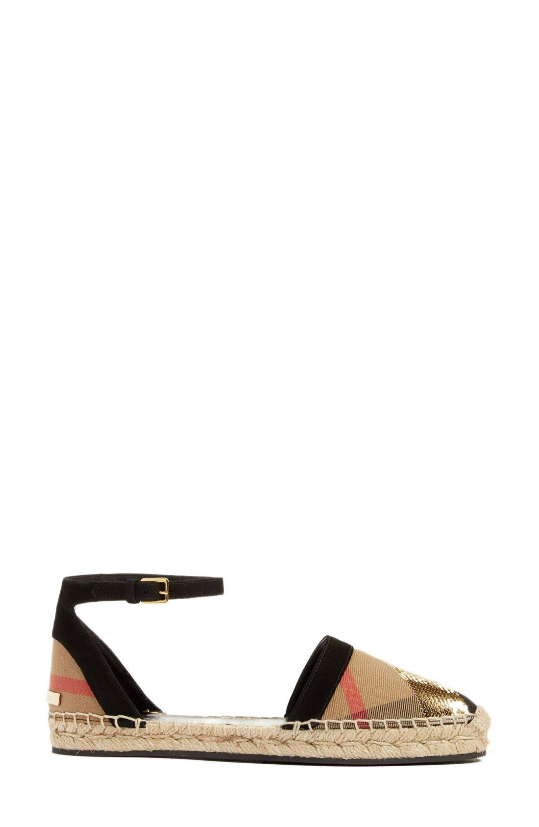 'Abbingdon' Ankle Strap Espadrille Sandal,                             Alternate thumbnail 4, color,