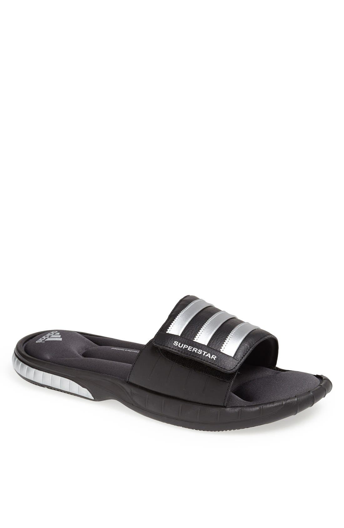 Superstar 3G Slide Sandal,                             Main thumbnail 1, color,                             001