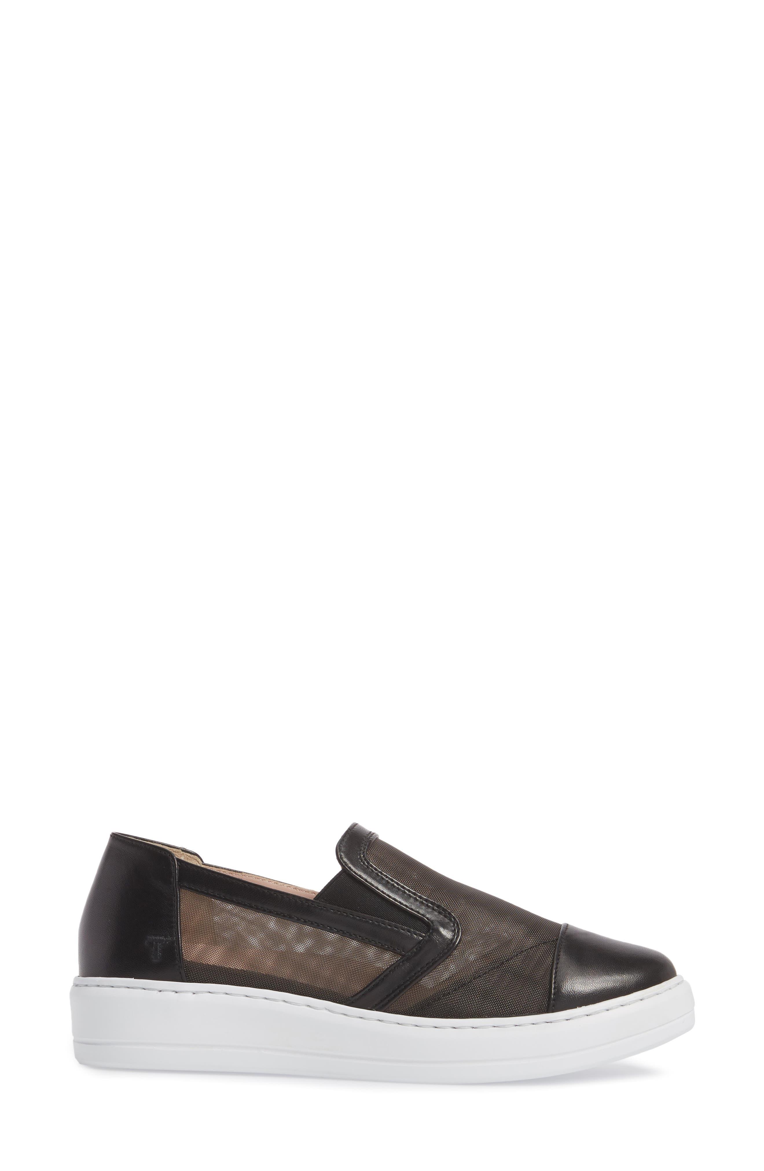 Taryn Rose Calandra Slip-On Sneaker,                             Alternate thumbnail 3, color,                             004