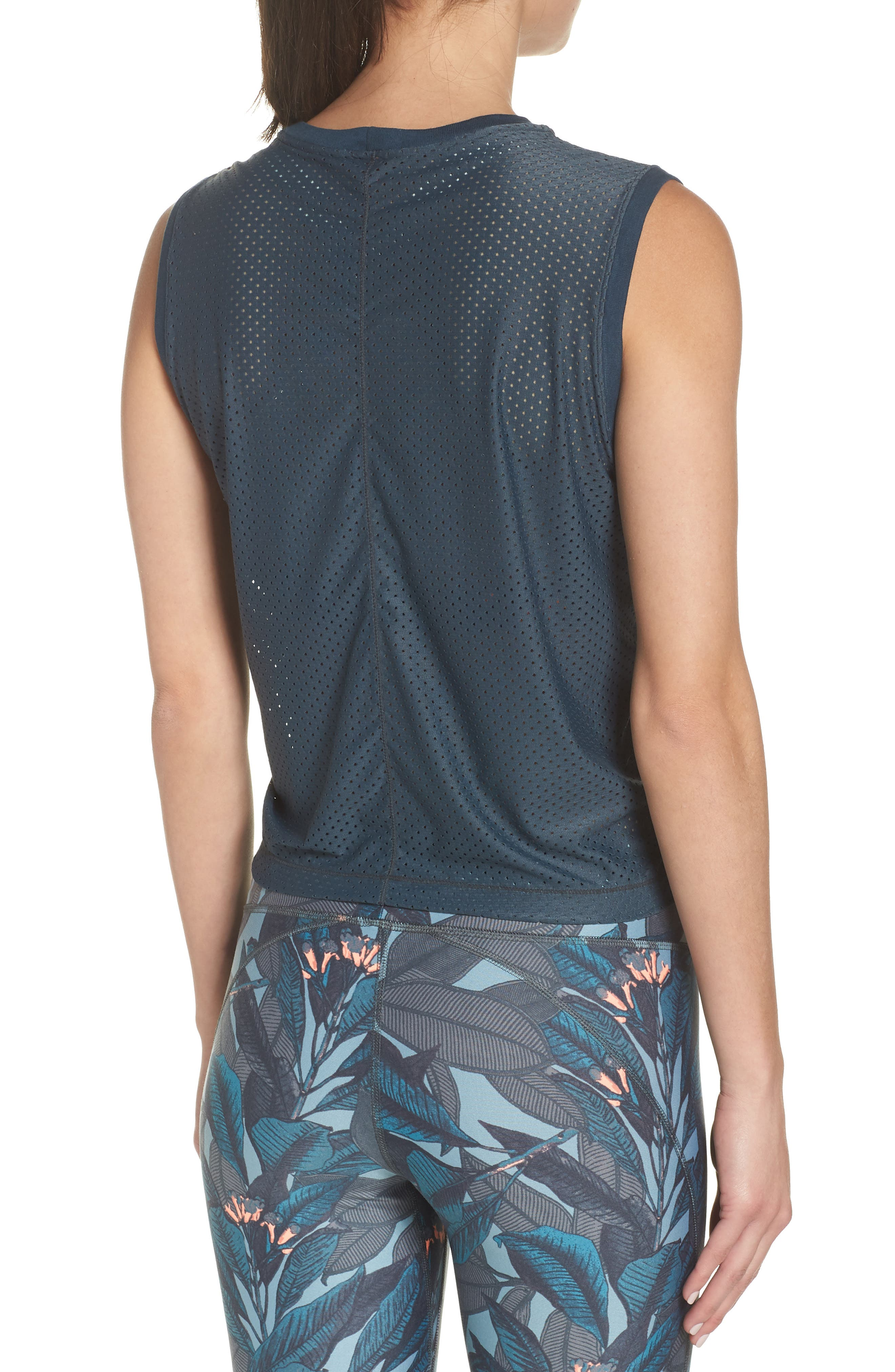 Eden Evergreen Mesh Tank,                             Alternate thumbnail 2, color,                             EVERGREEN