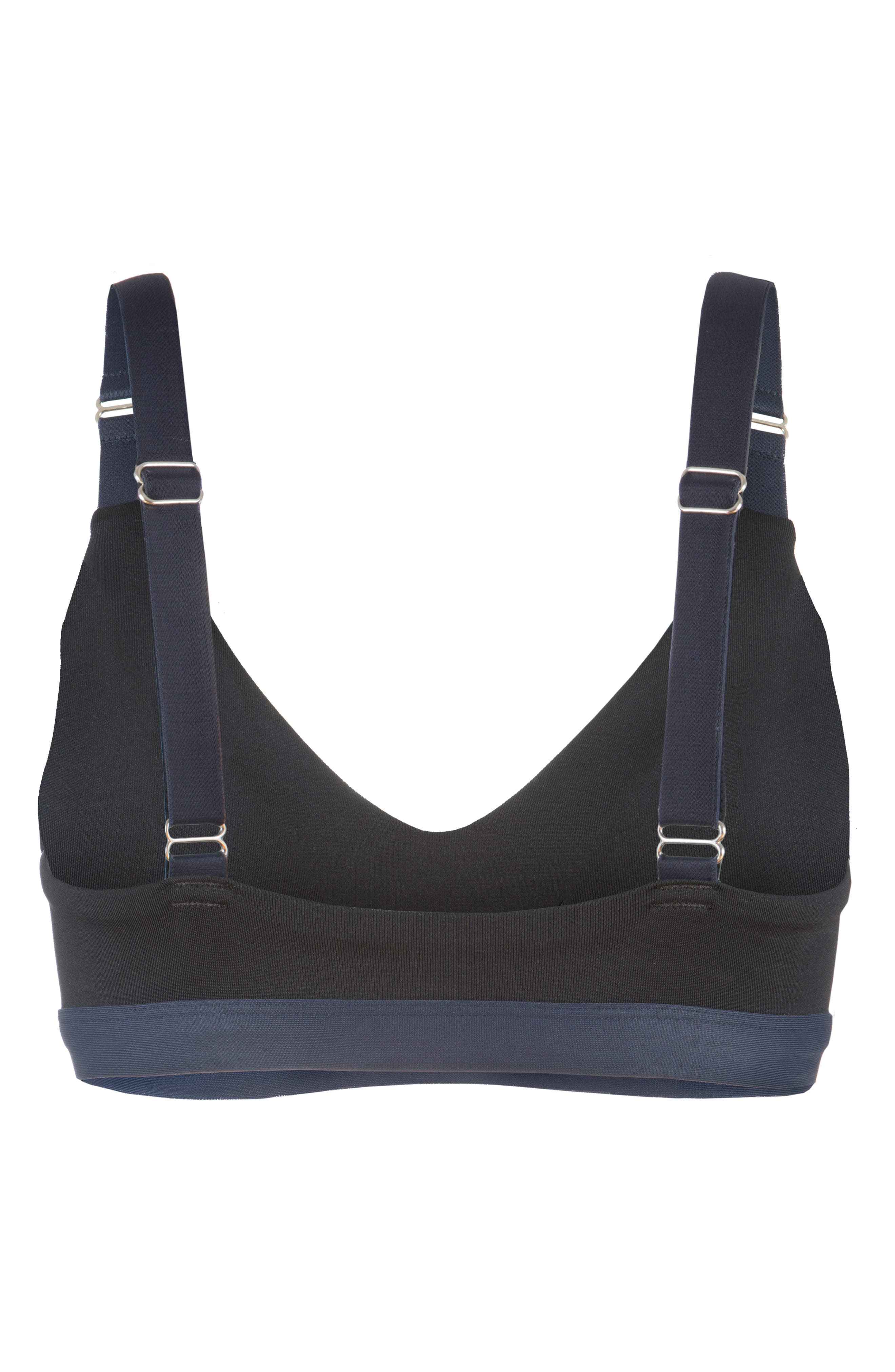 The Active Colorblock Sports Bralette,                             Alternate thumbnail 3, color,                             JET BLACK AND LIVELY NAVY