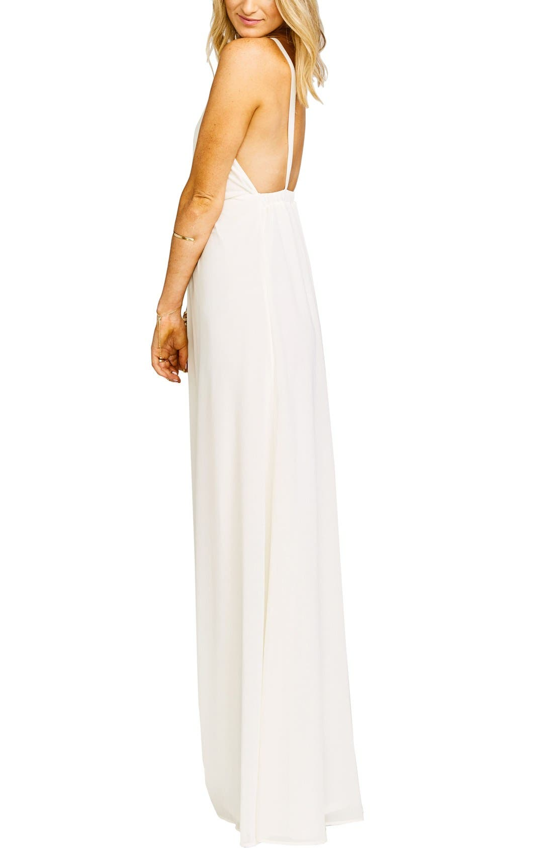 Amanda Open Back Blouson Gown,                             Alternate thumbnail 15, color,