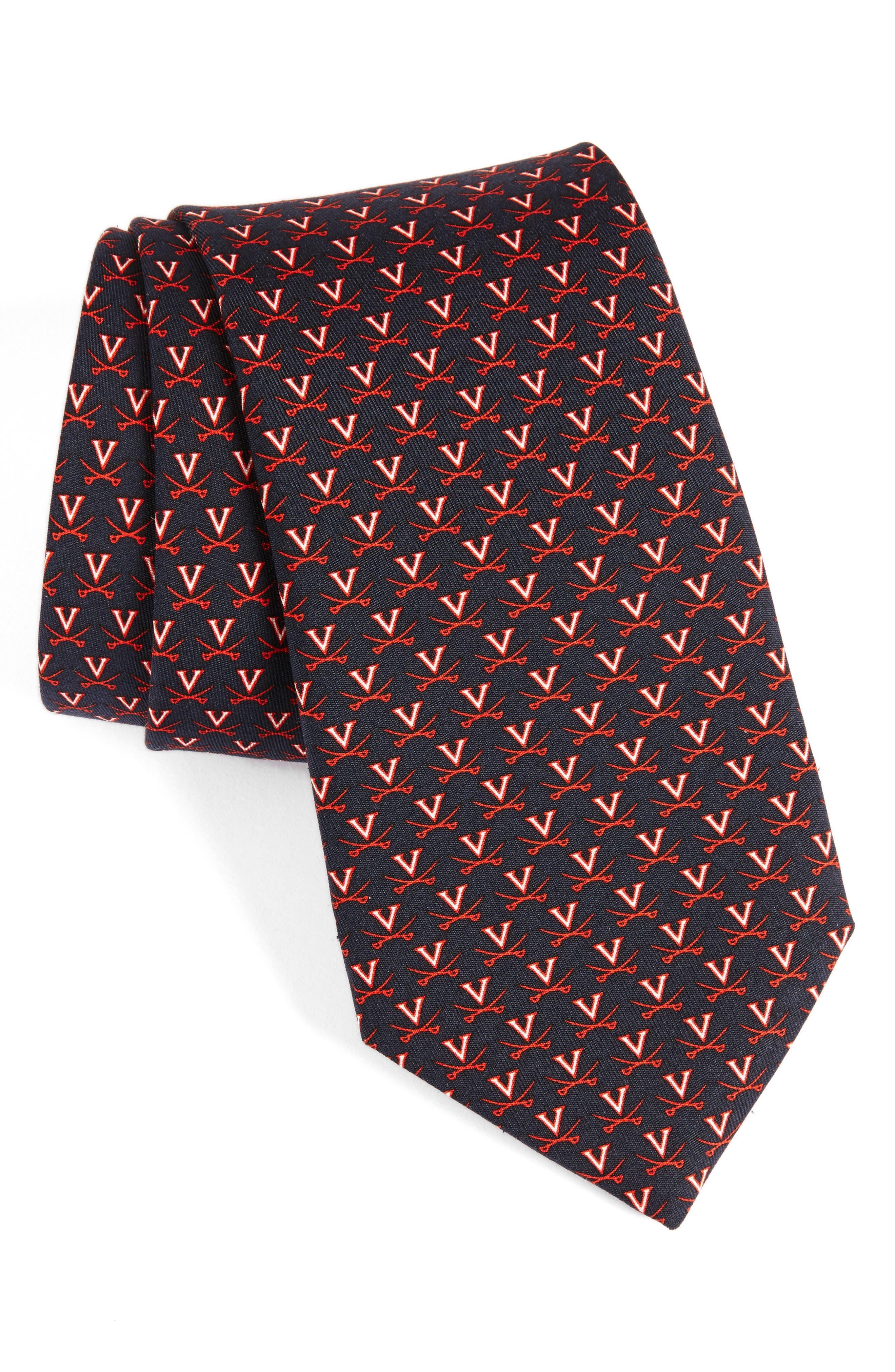 University of Virginia Silk Tie,                         Main,                         color, 414