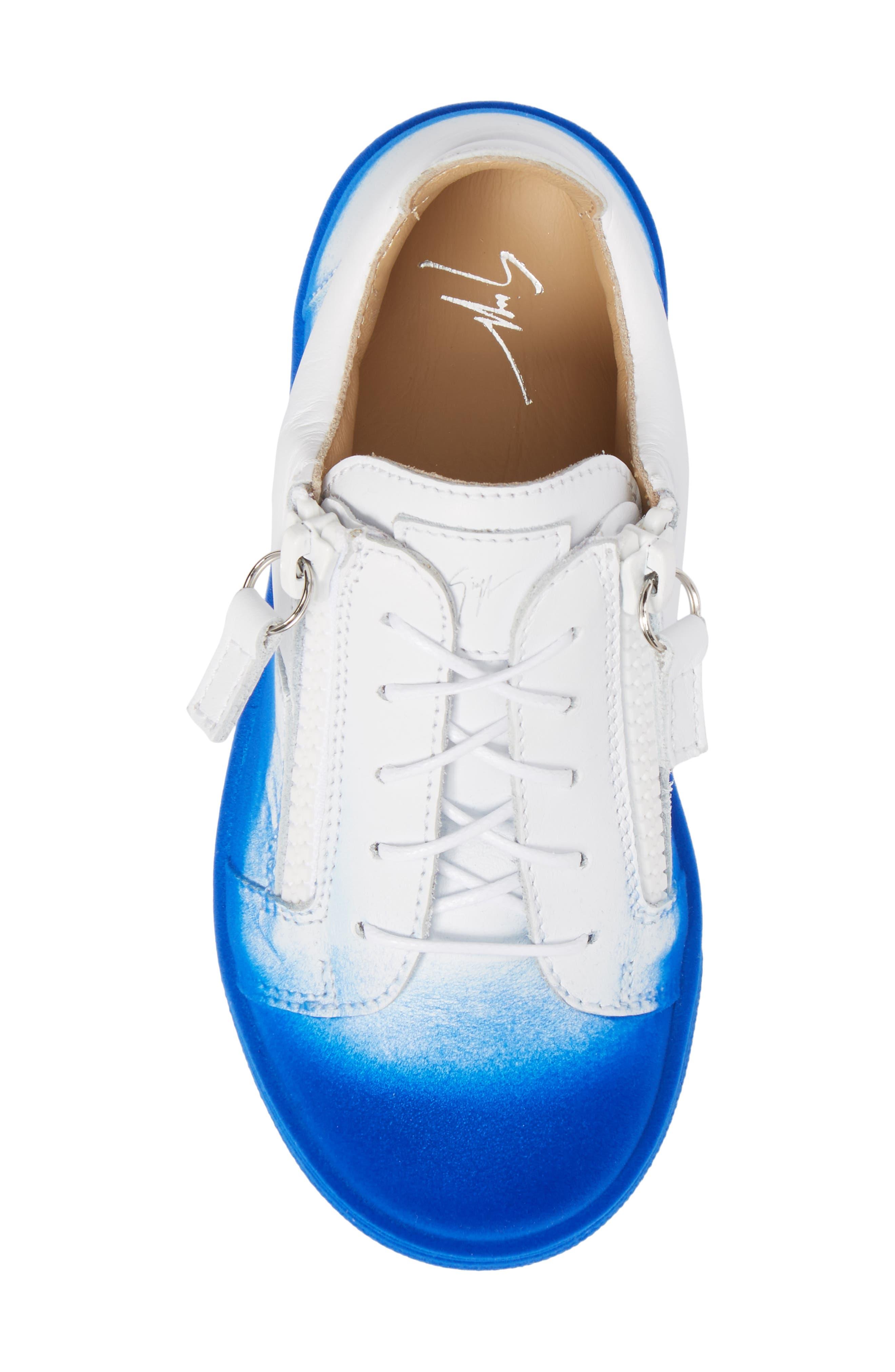 Smuggy Ombré Flocked Sneaker,                             Alternate thumbnail 5, color,                             BLUE/ WHITE