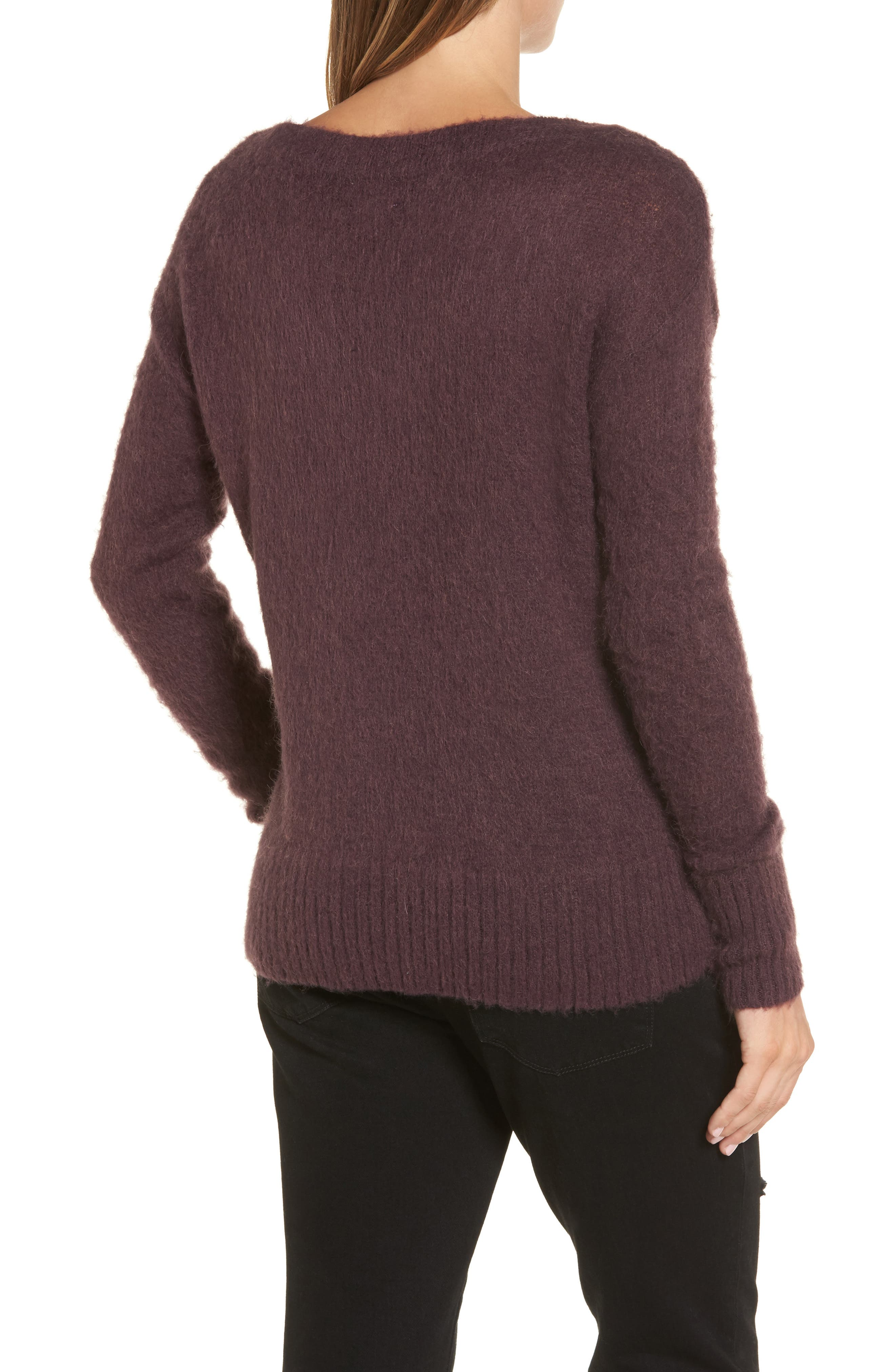 Long Sleeve Brushed Sweater,                             Alternate thumbnail 10, color,