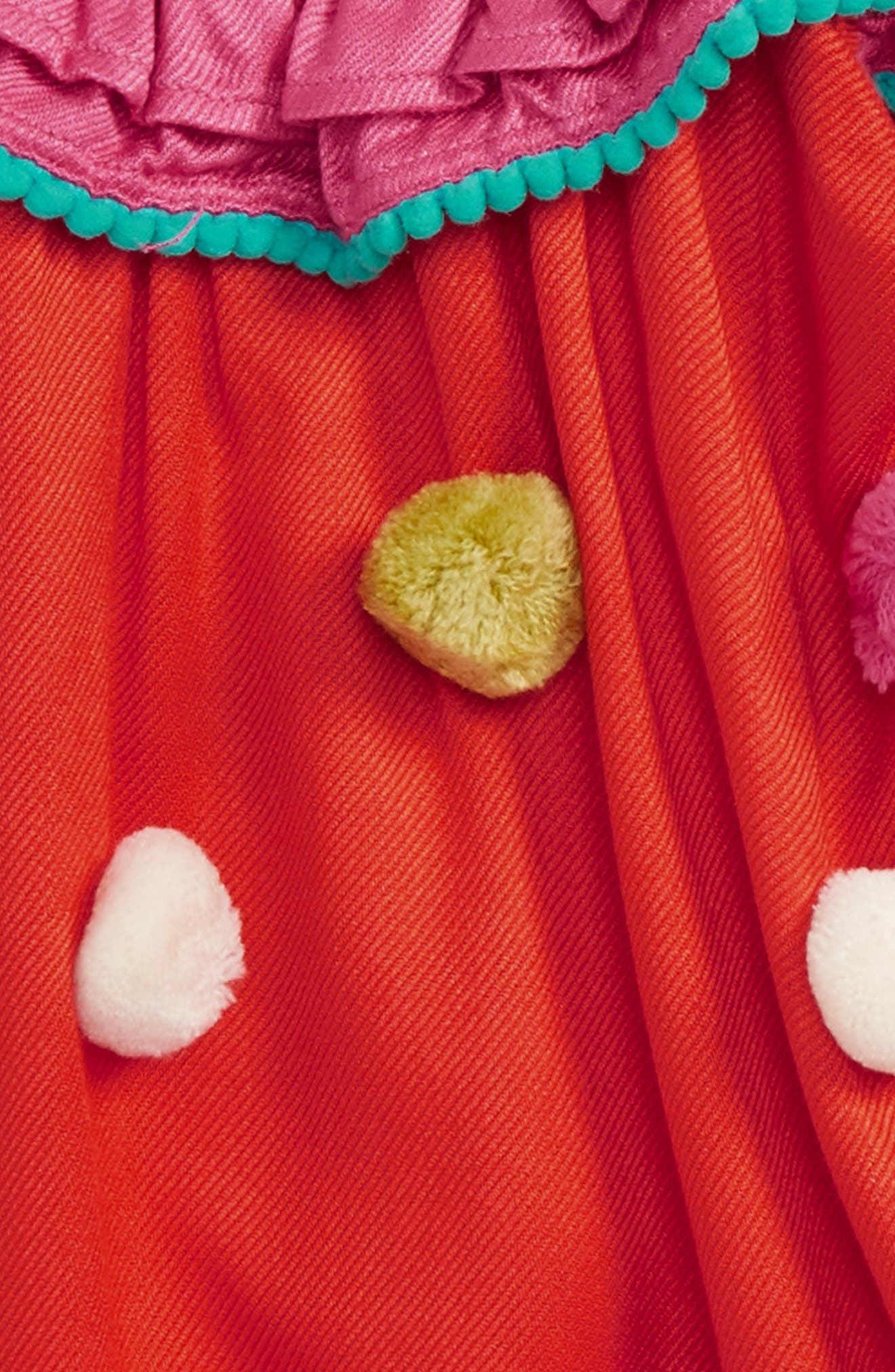 Pompom Dress,                             Alternate thumbnail 3, color,                             950