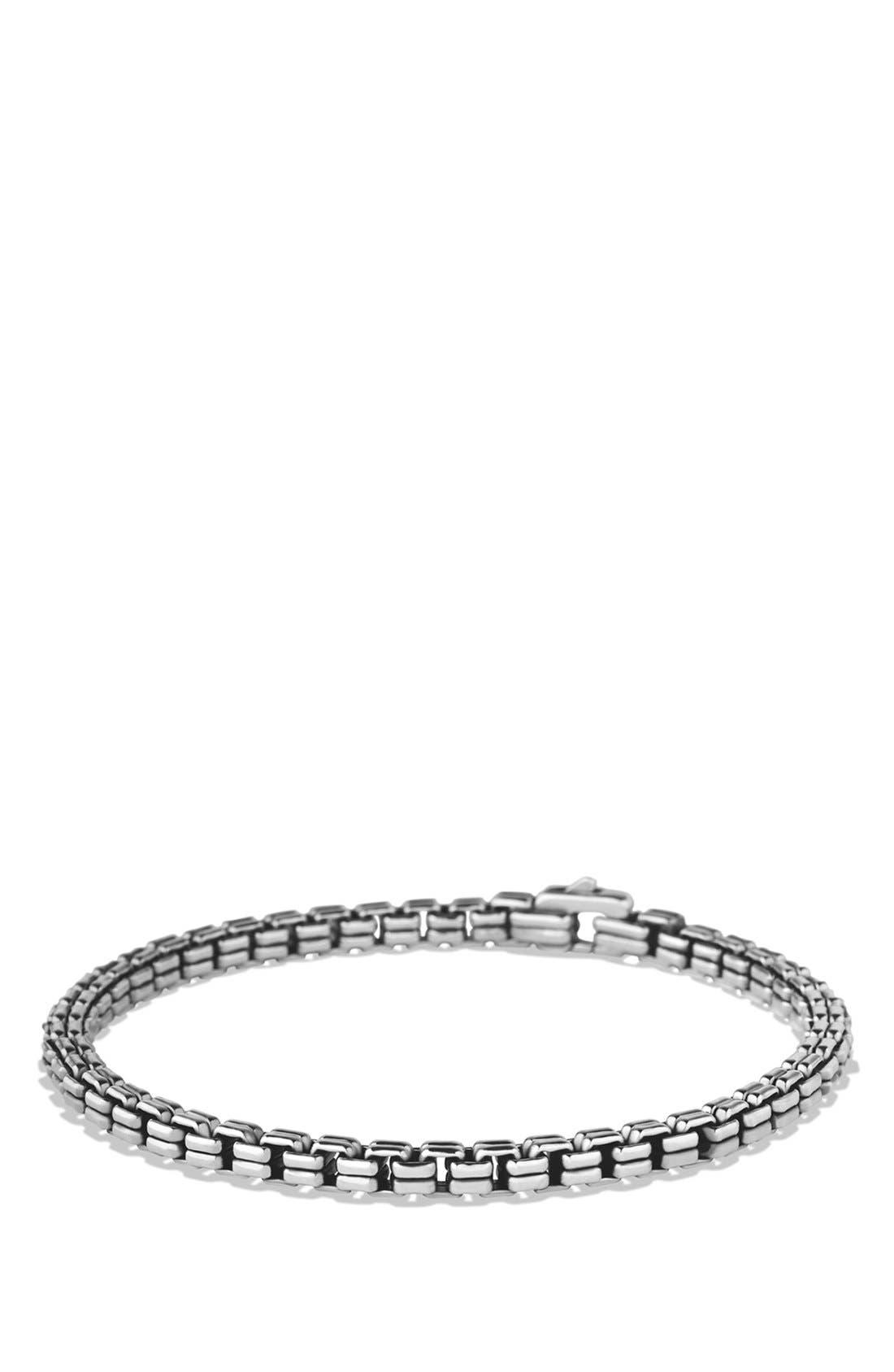 DAVID YURMAN,                             'Chain' Double Box Chain Bracelet,                             Main thumbnail 1, color,                             SILVER