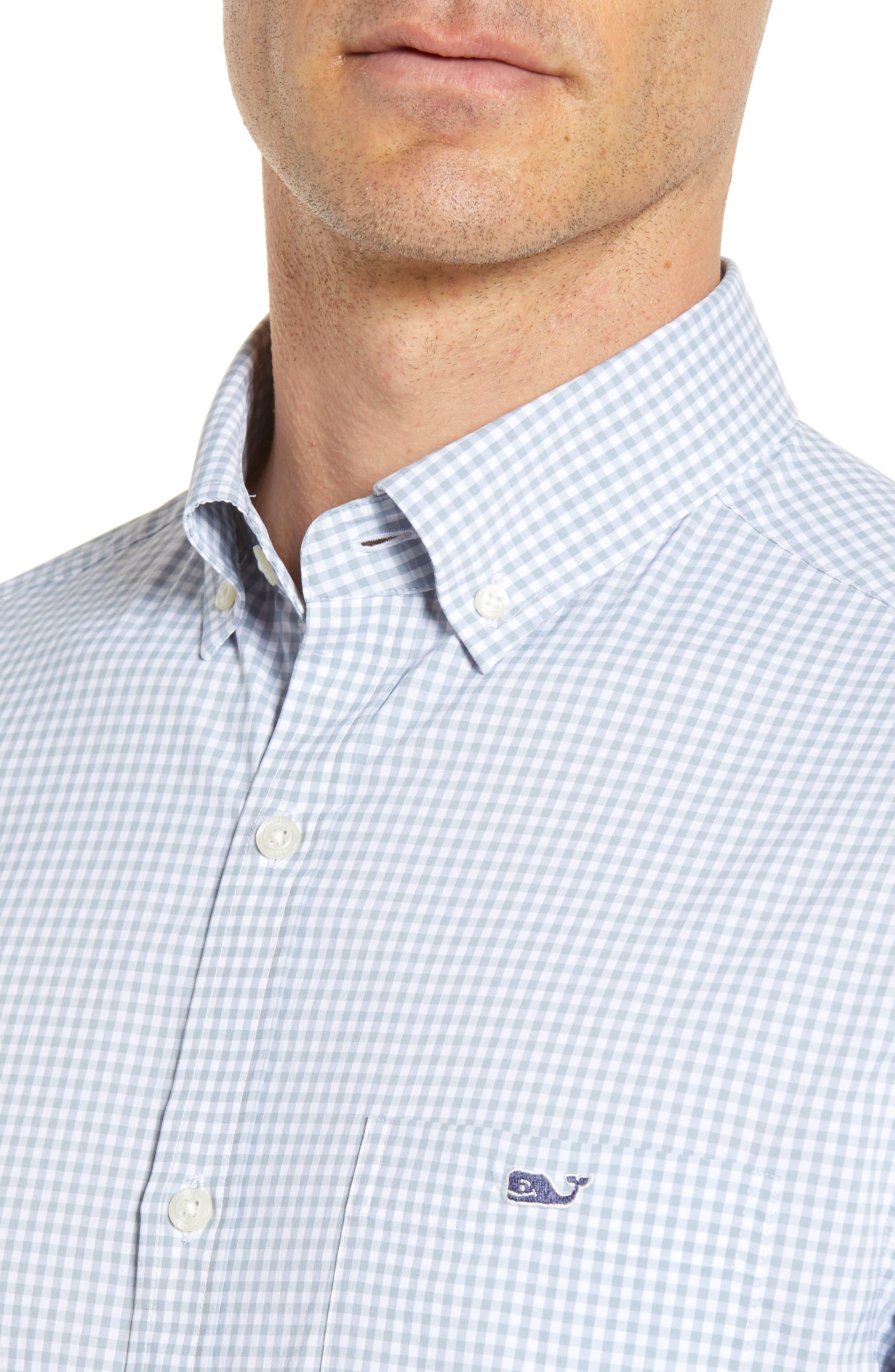 VINEYARD VINES,                             Grand Cay Tucker Regular Fit Gingham Performance Sport Shirt,                             Alternate thumbnail 4, color,                             023