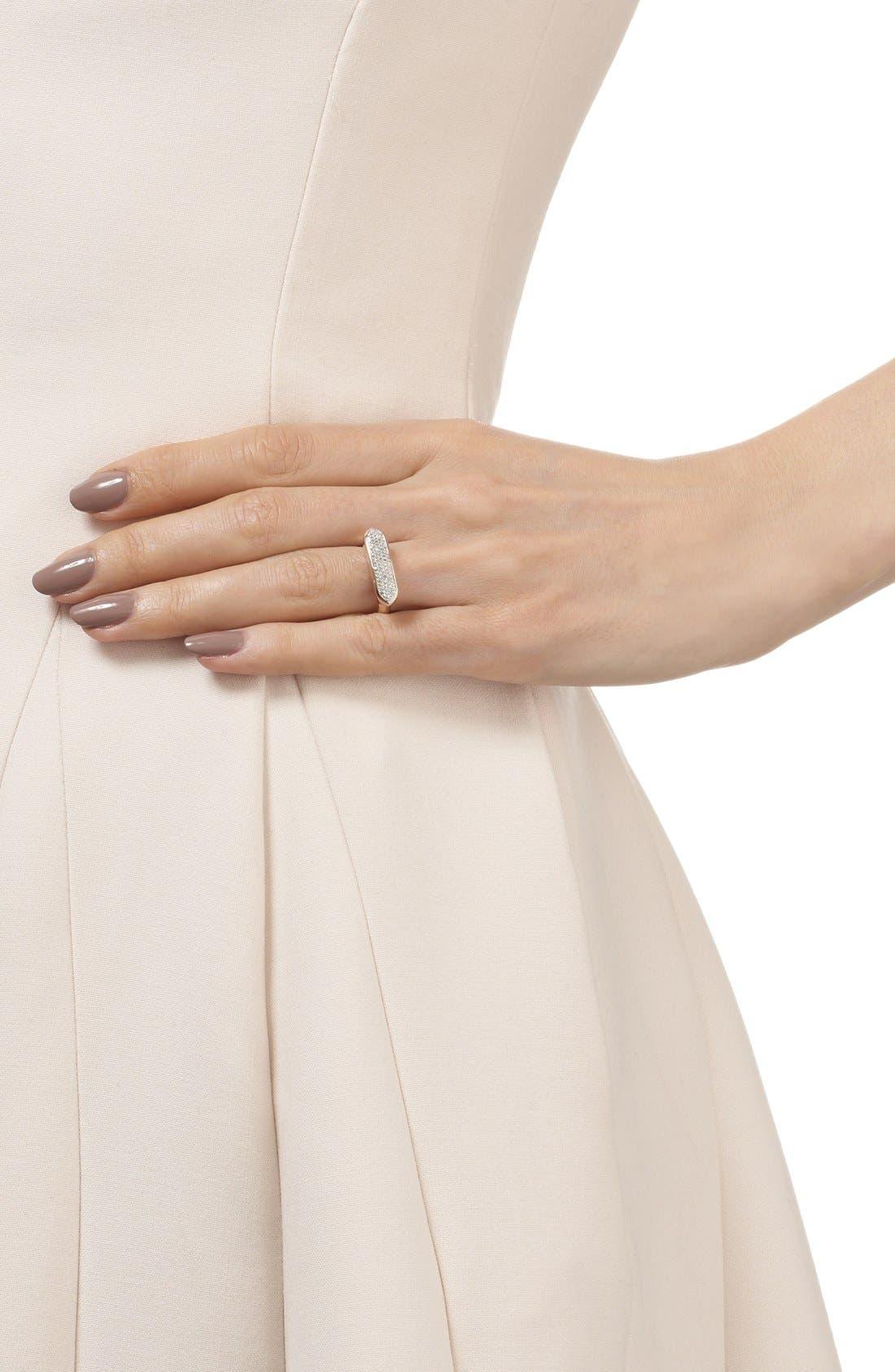 'Baja' Stone Ring,                             Alternate thumbnail 3, color,                             ROSE GOLD/ DIAMOND