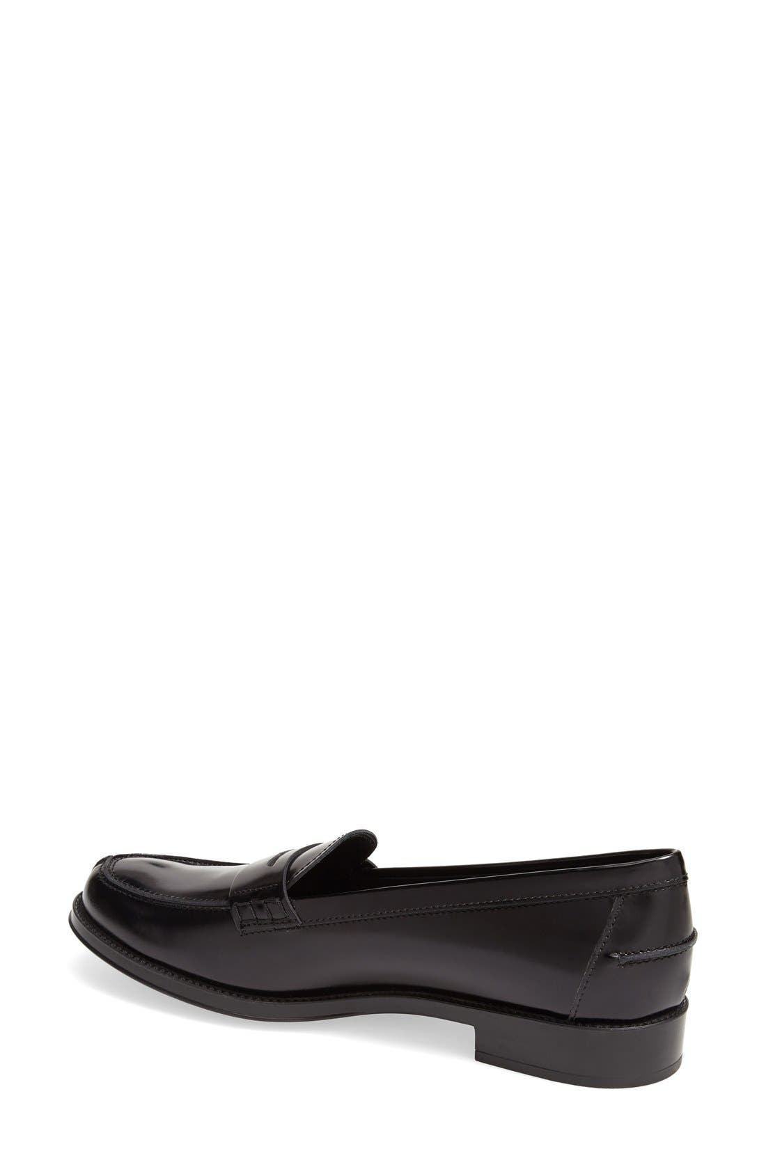 Penny Loafer,                             Alternate thumbnail 3, color,                             BLACK LEATHER