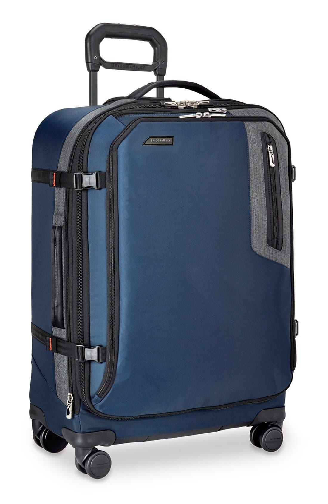 'BRX - Explore' Medium Expandable Wheeled Packing Case,                             Alternate thumbnail 3, color,                             BLUE